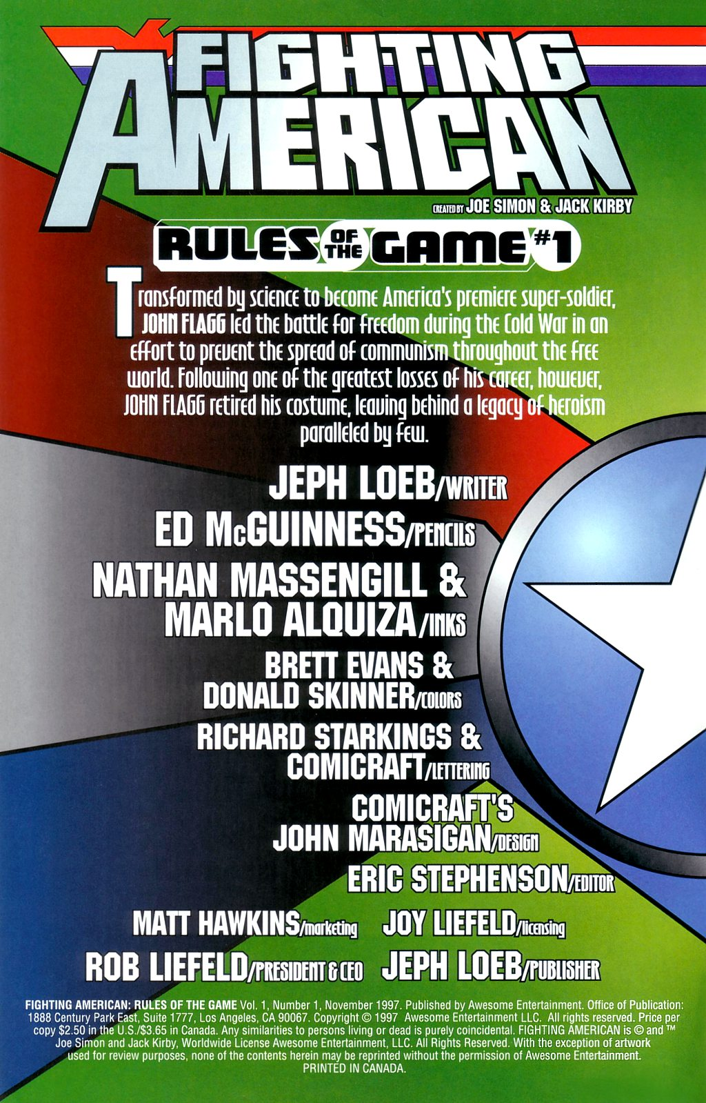 Fighting American: Rules of the Game 1 Page 2