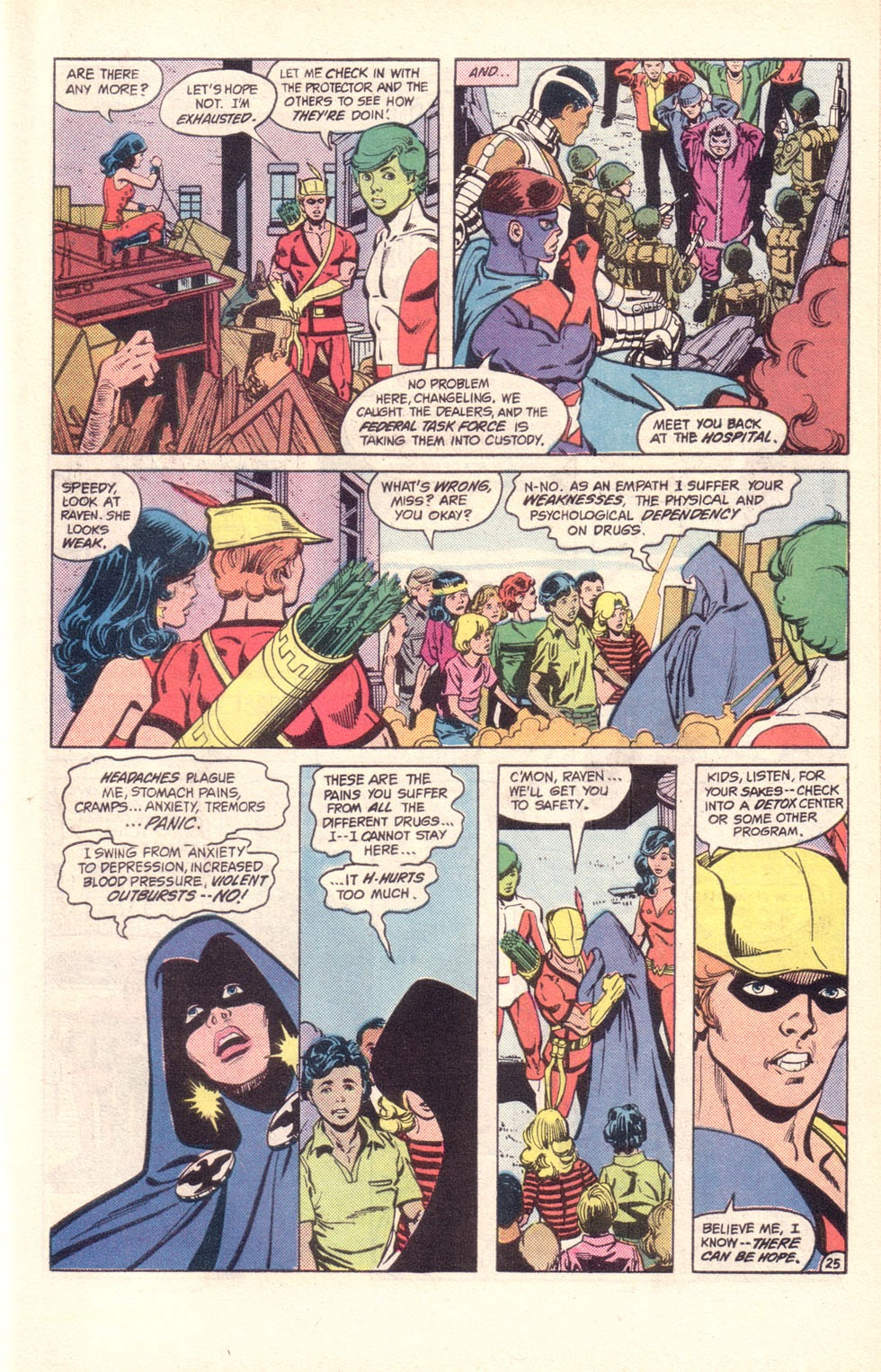 Read online The New Teen Titans (Drug Awareness Specials) comic -  Issue #2 - 27