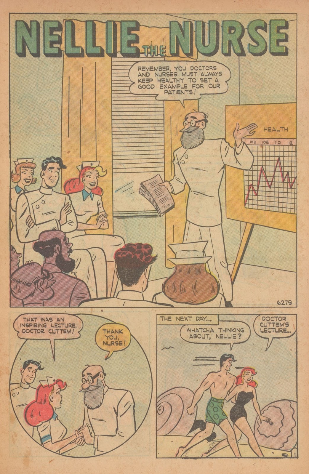 Read online Nellie The Nurse (1945) comic -  Issue #22 - 11