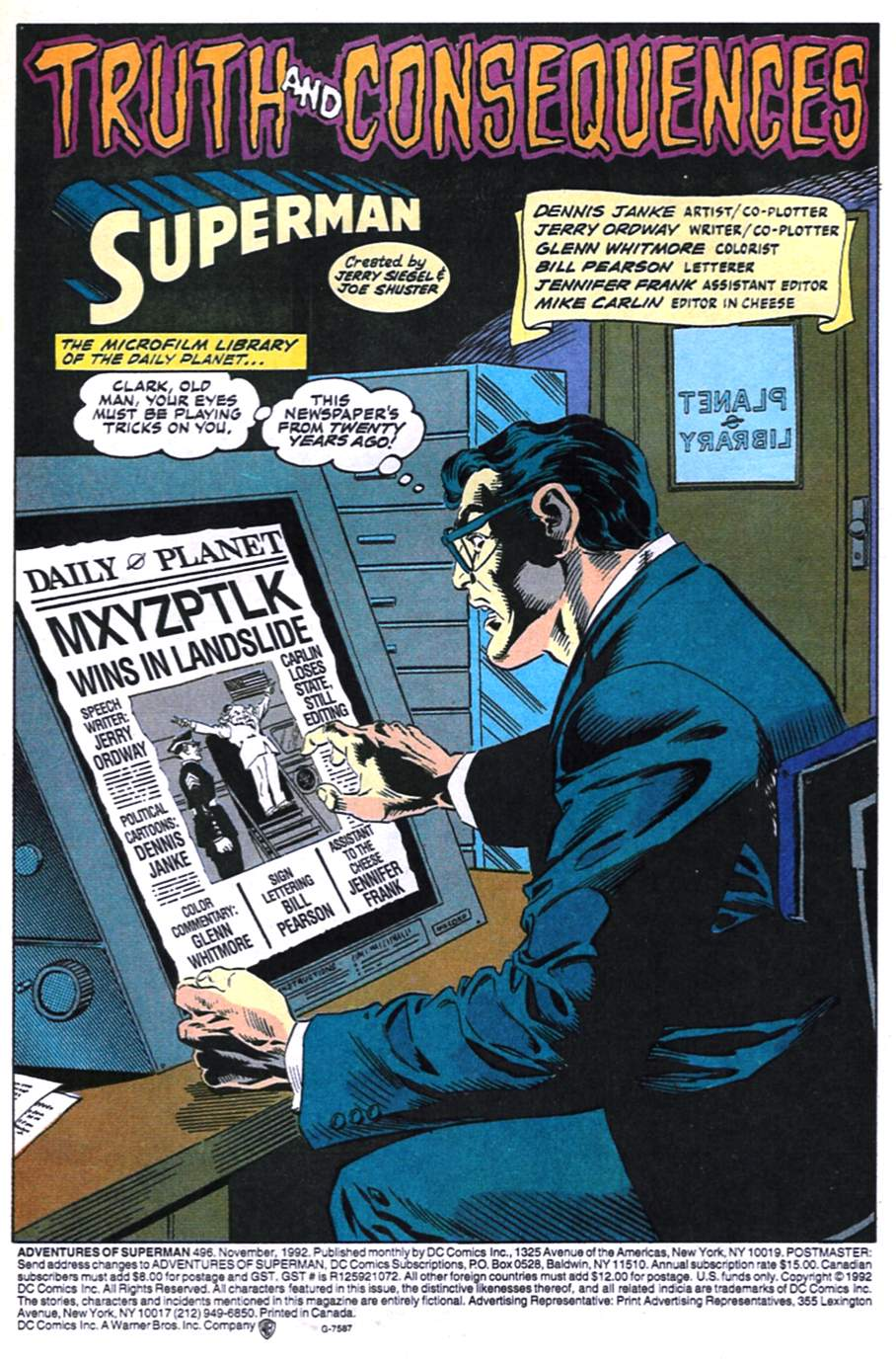 Read online Adventures of Superman (1987) comic -  Issue #496 - 2