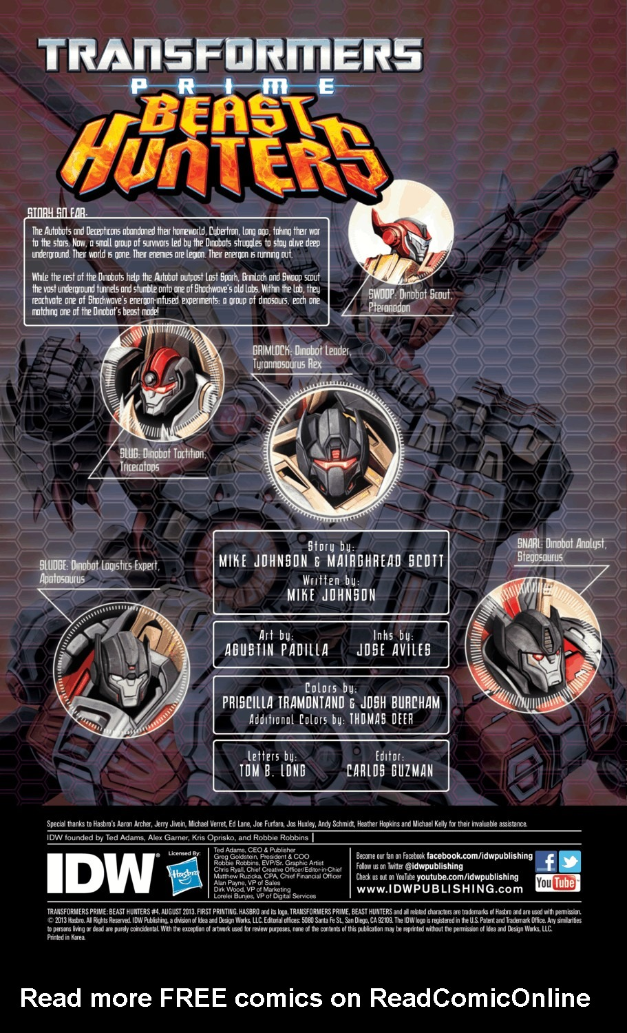 Read online Transformers Prime: Beast Hunters comic -  Issue #4 - 2