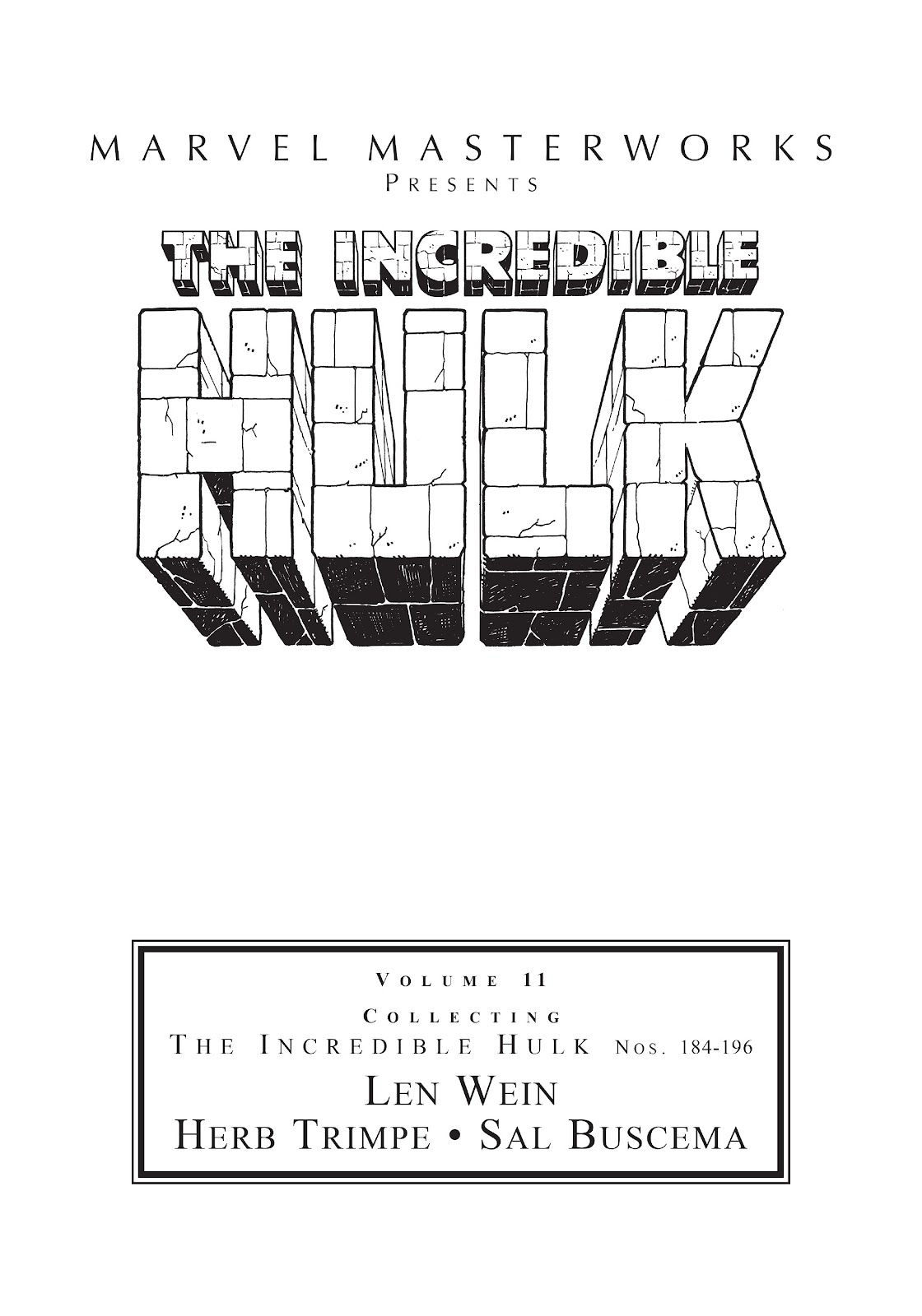 Read online Marvel Masterworks: The Incredible Hulk comic -  Issue # TPB 11 (Part 1) - 2
