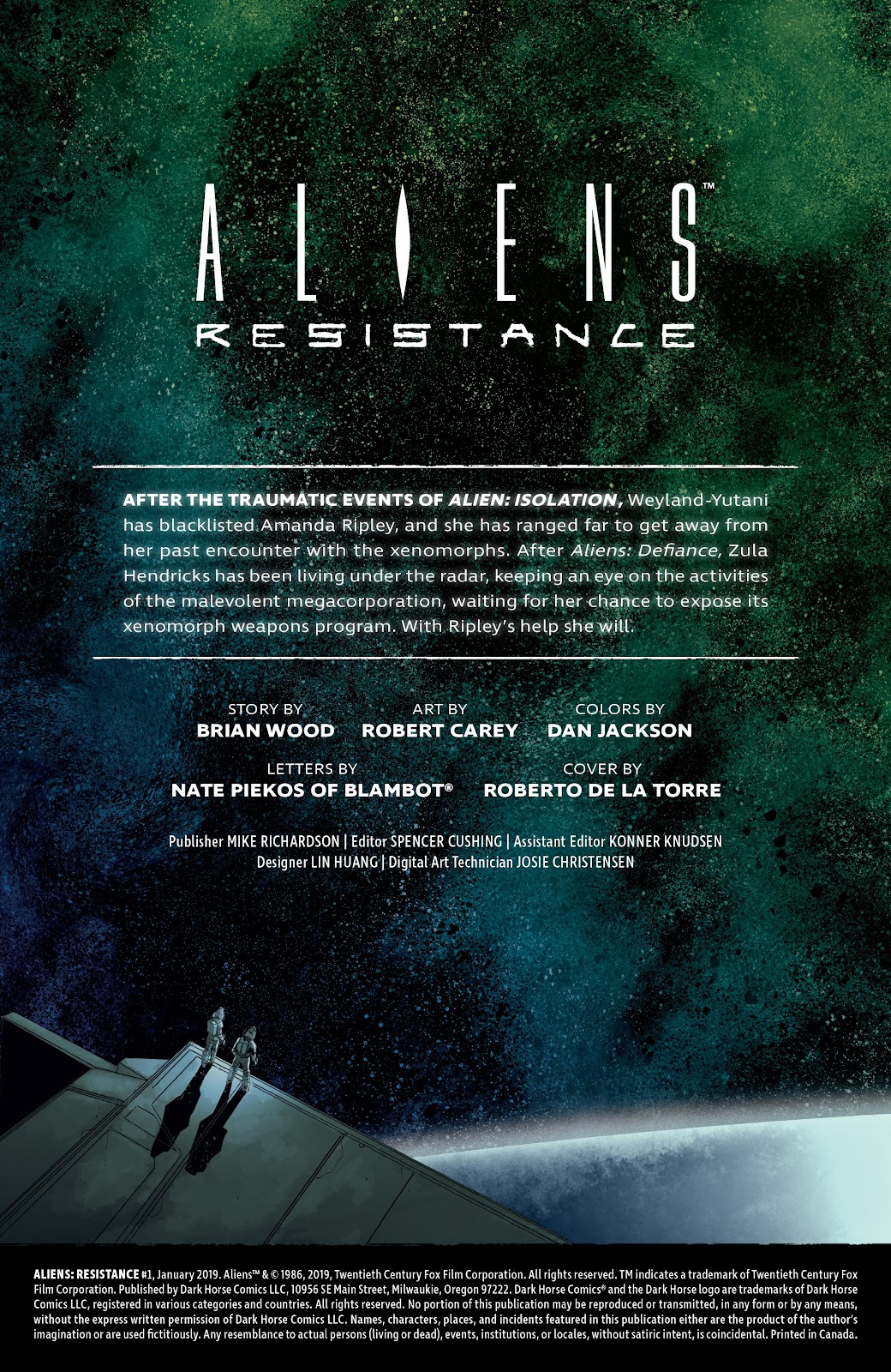 Read online Aliens: Resistance comic -  Issue #1 - 2