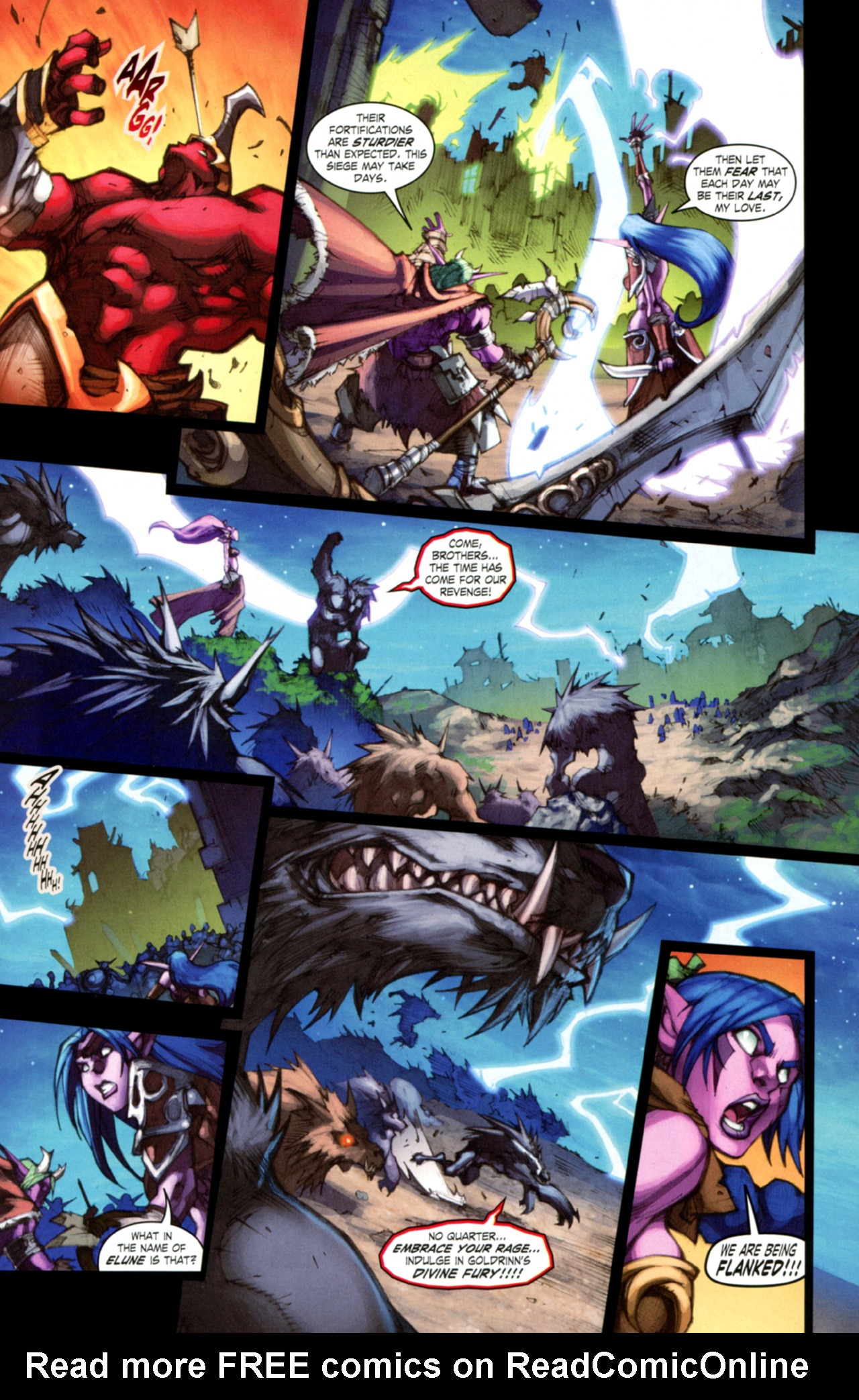 Read online World of Warcraft: Curse of the Worgen comic -  Issue #3 - 19