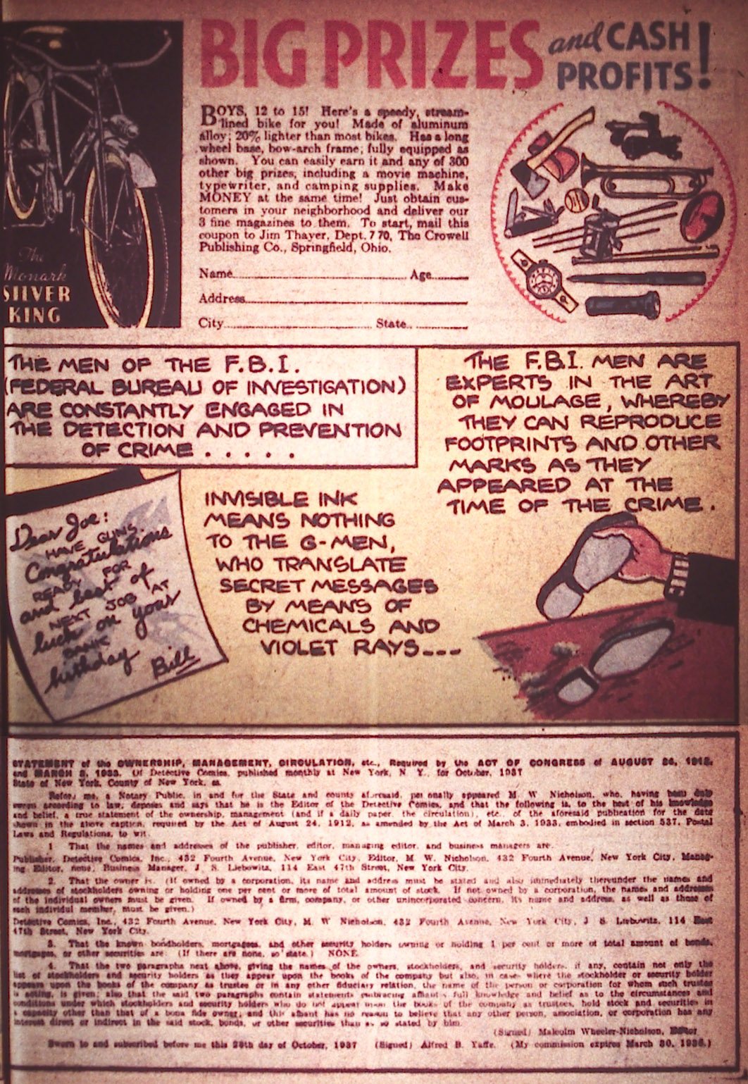 Read online Detective Comics (1937) comic -  Issue #12 - 9