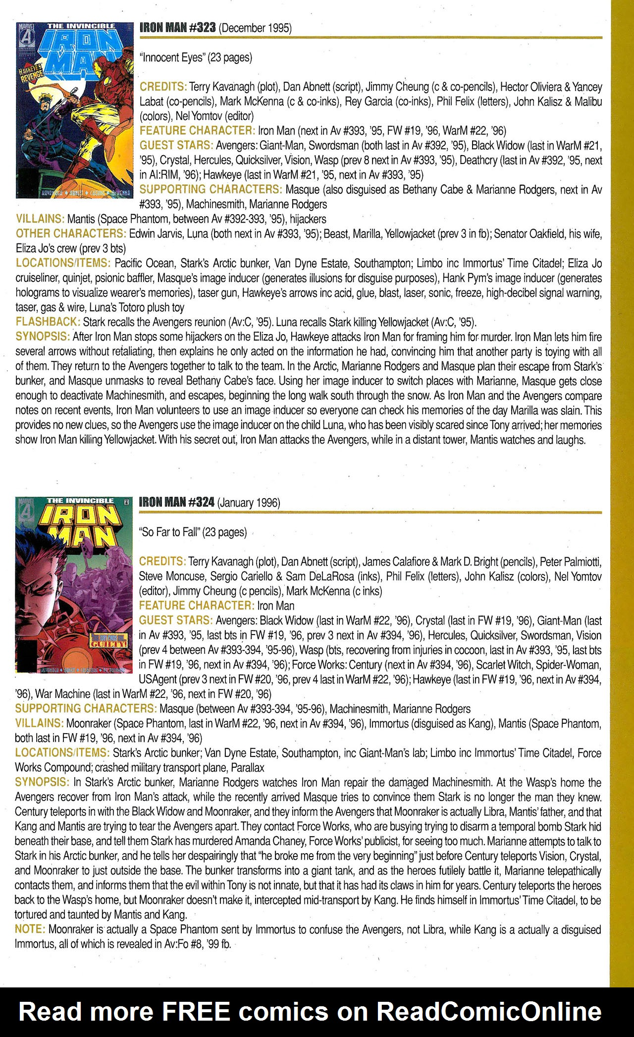Read online Official Index to the Marvel Universe comic -  Issue #9 - 35