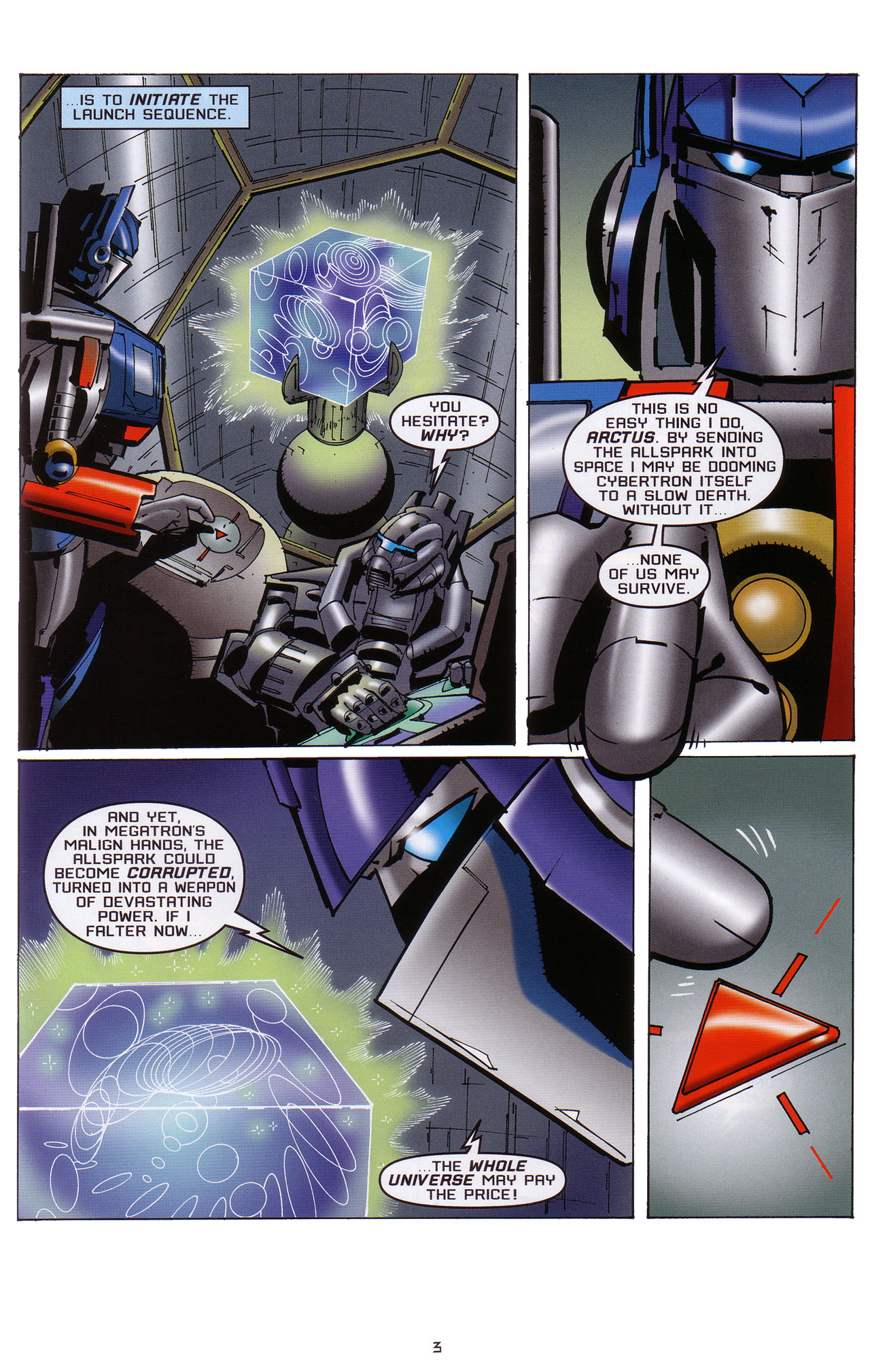 Read online Transformers: Saga of the Allspark comic -  Issue #1 - 4