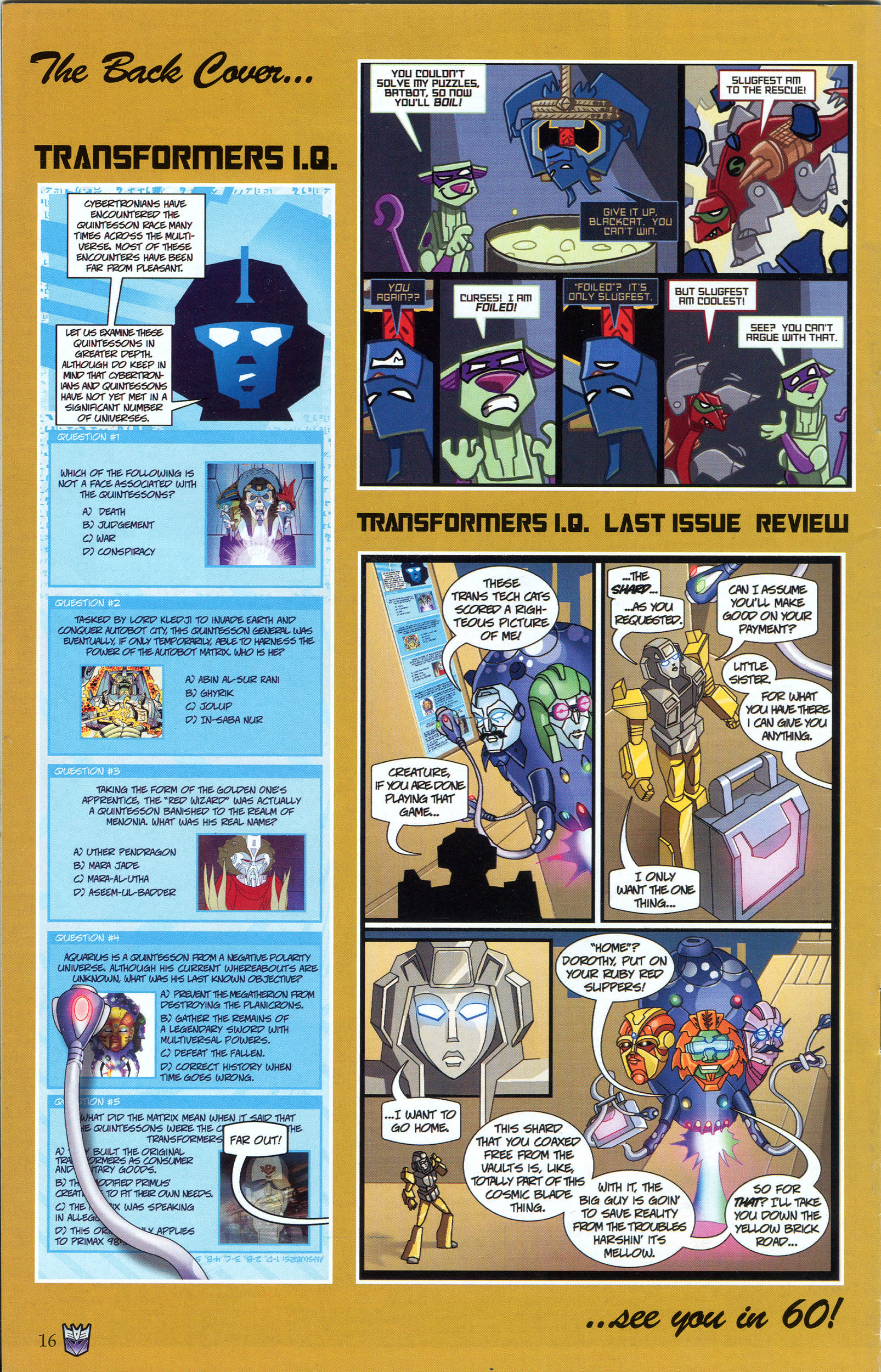 Read online Transformers: Collectors' Club comic -  Issue #48 - 16