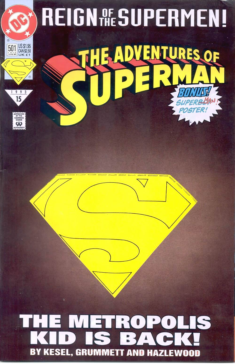 Read online Adventures of Superman (1987) comic -  Issue #501 - 1
