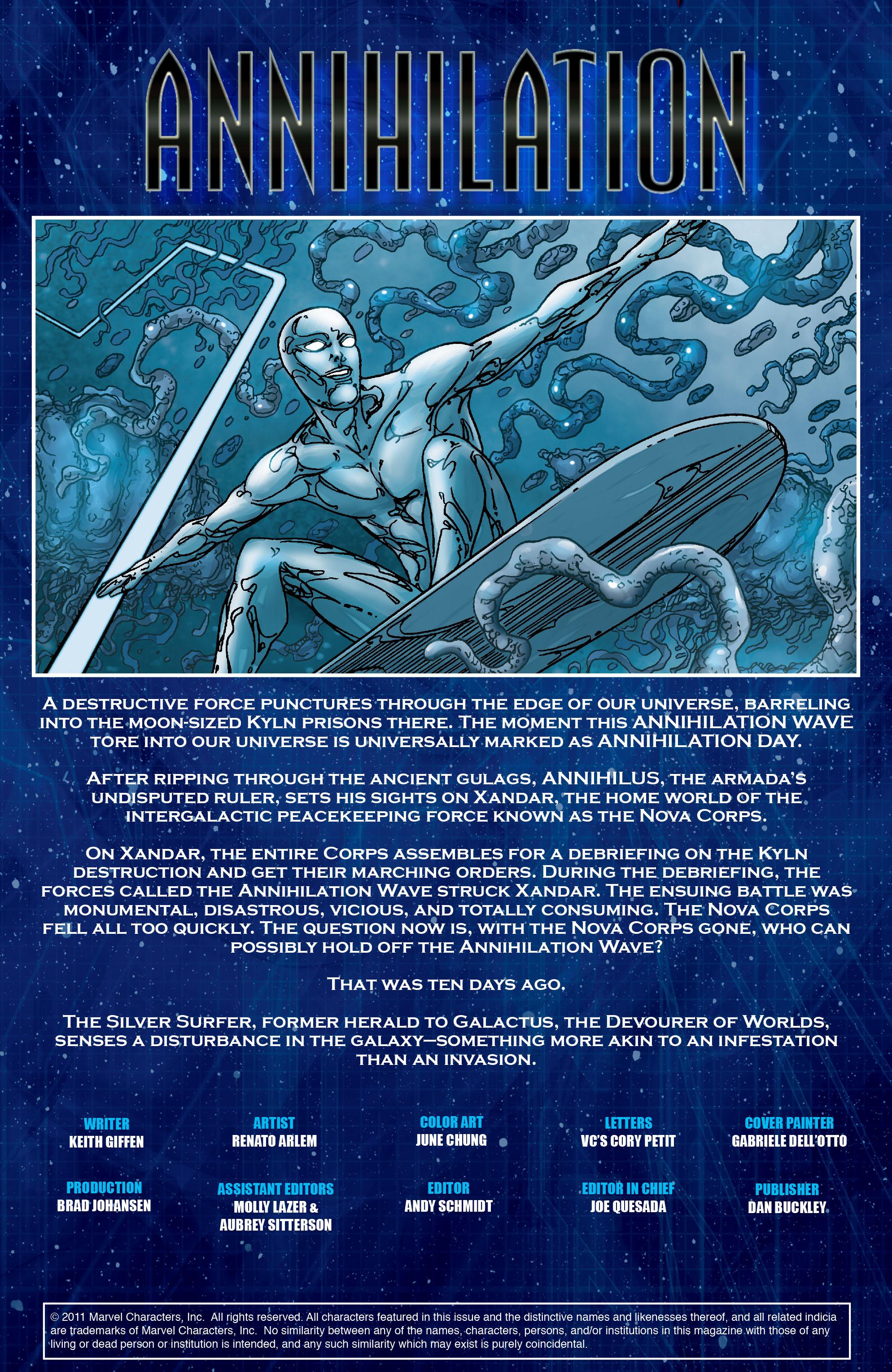 Read online Annihilation: Silver Surfer comic -  Issue #1 - 4