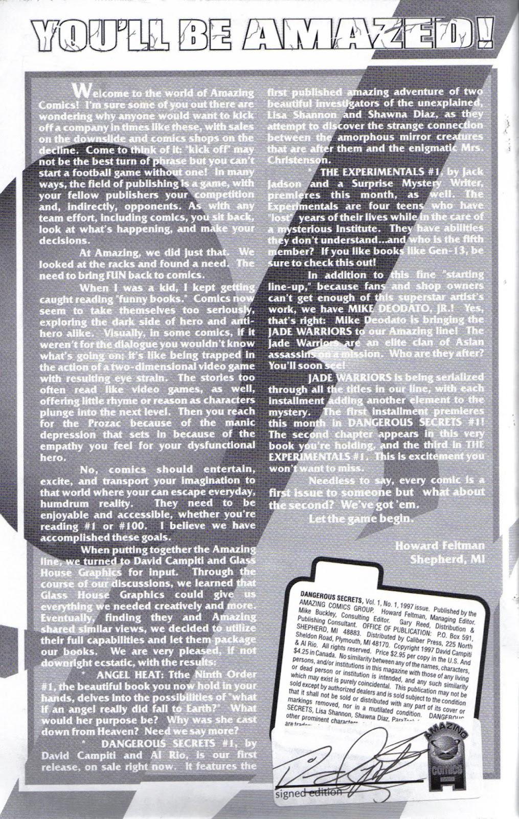 Dangerous Secrets issue Full - Page 2