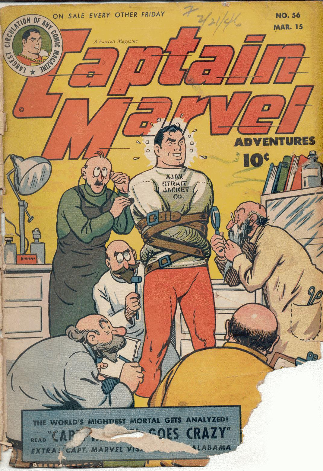 Captain Marvel Adventures 56 Page 1