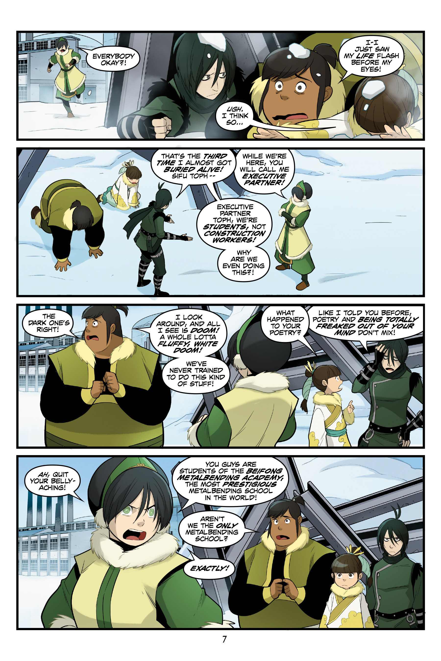 Read online Nickelodeon Avatar: The Last Airbender - North and South comic -  Issue #3 - 8