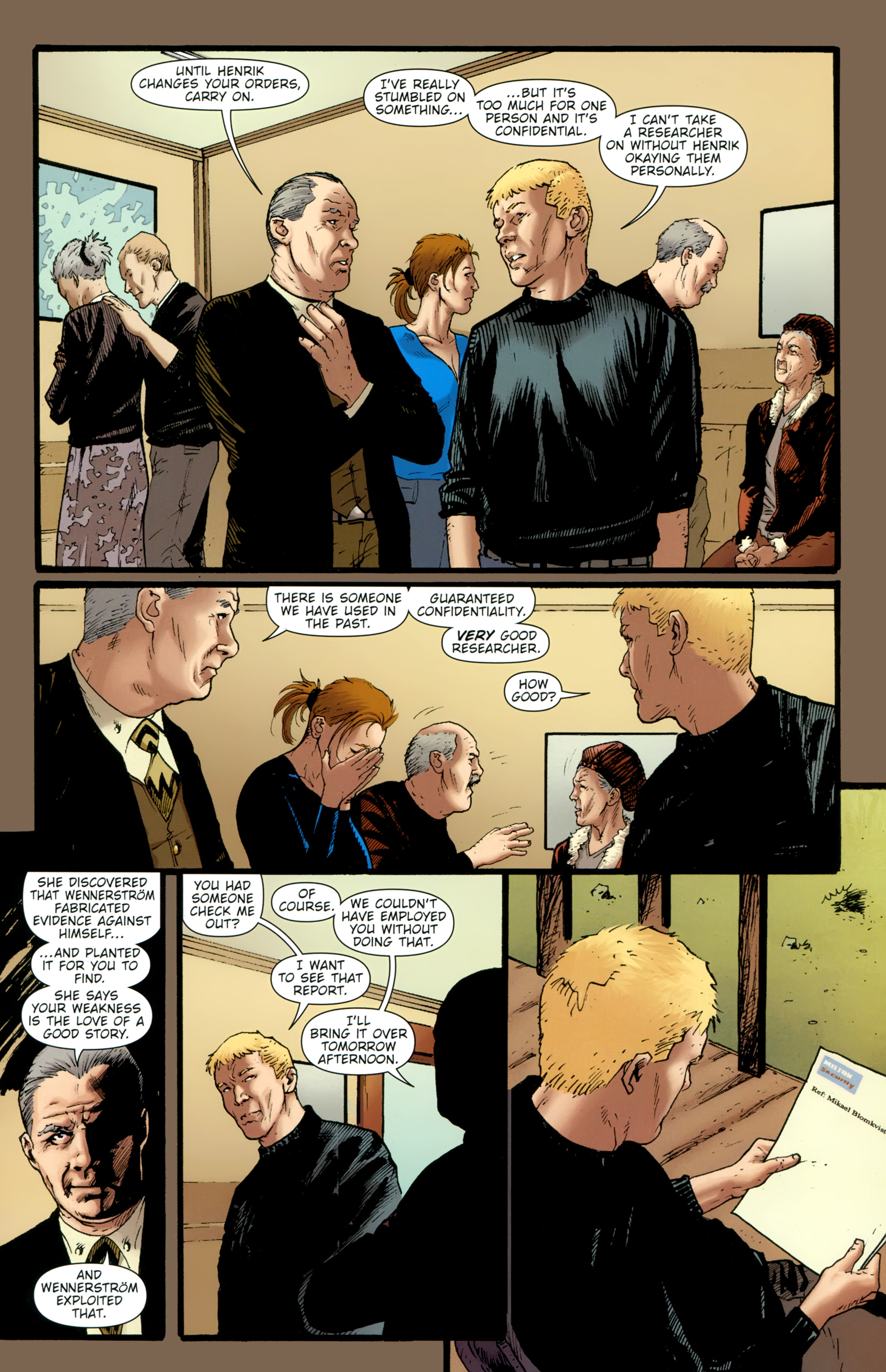Read online The Girl With the Dragon Tattoo comic -  Issue # TPB 2 - 43