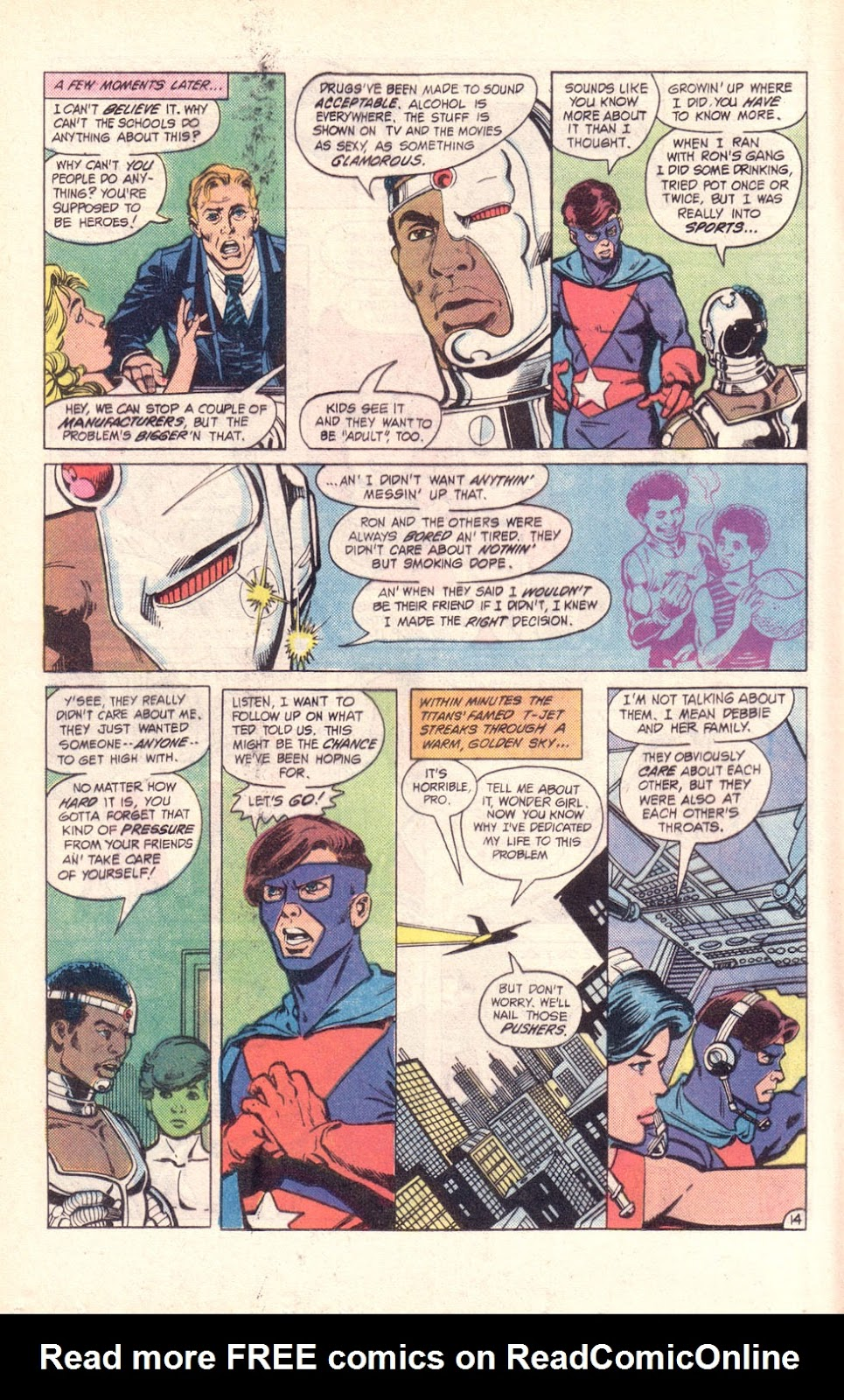 Read online The New Teen Titans (Drug Awareness Specials) comic -  Issue #2 - 16
