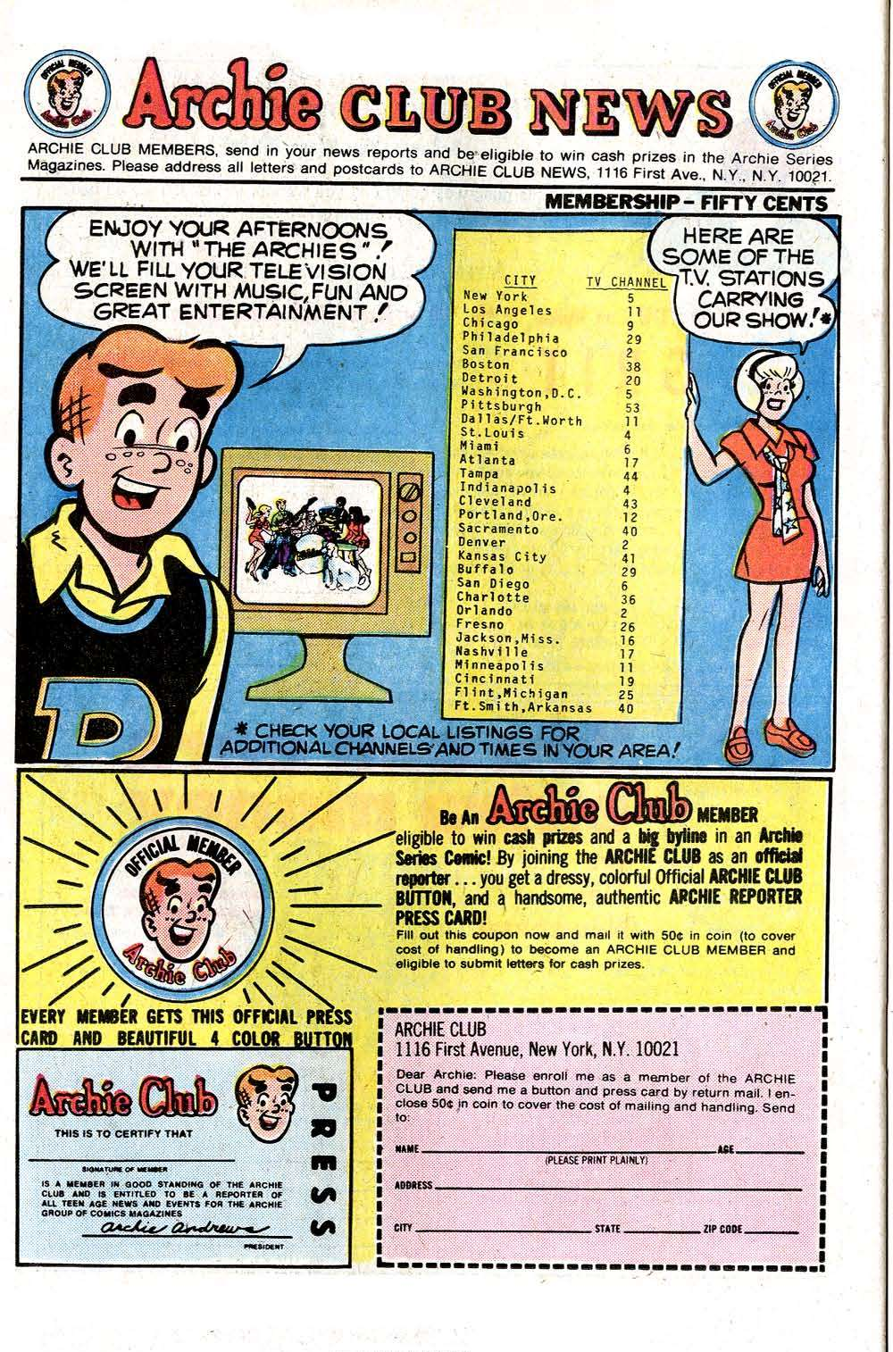 Read online Archie (1960) comic -  Issue #261 - 26