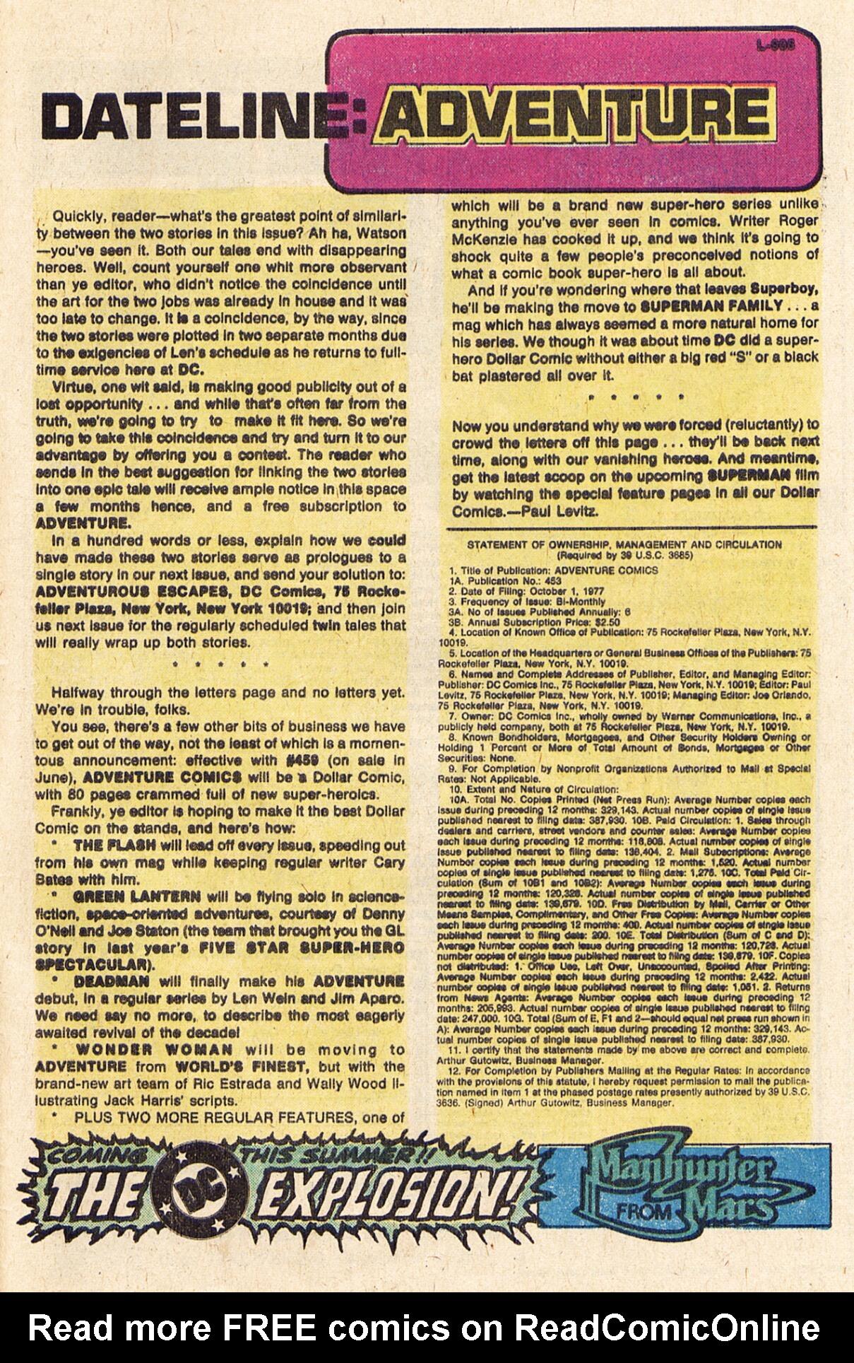 Read online Adventure Comics (1938) comic -  Issue #457 - 25
