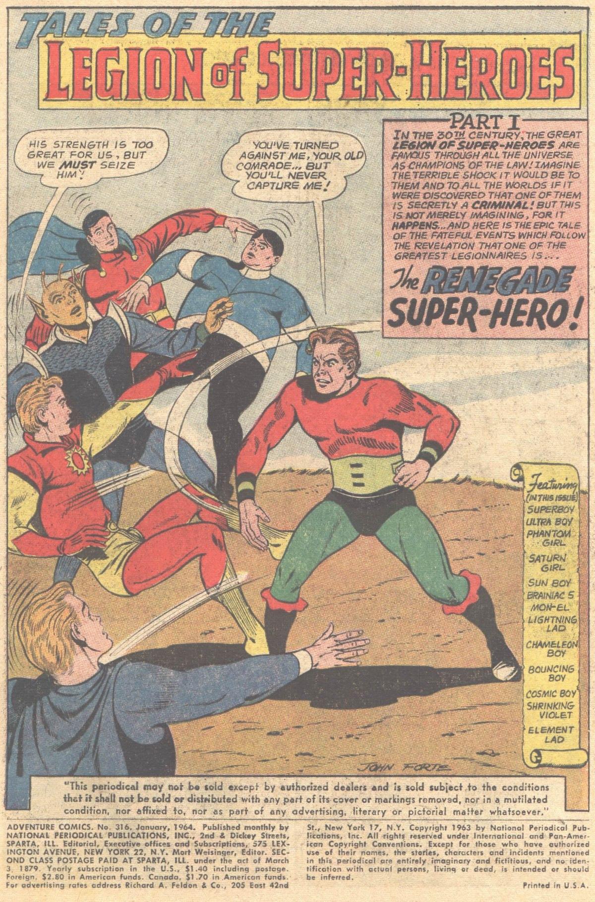 Read online Adventure Comics (1938) comic -  Issue #316 - 3