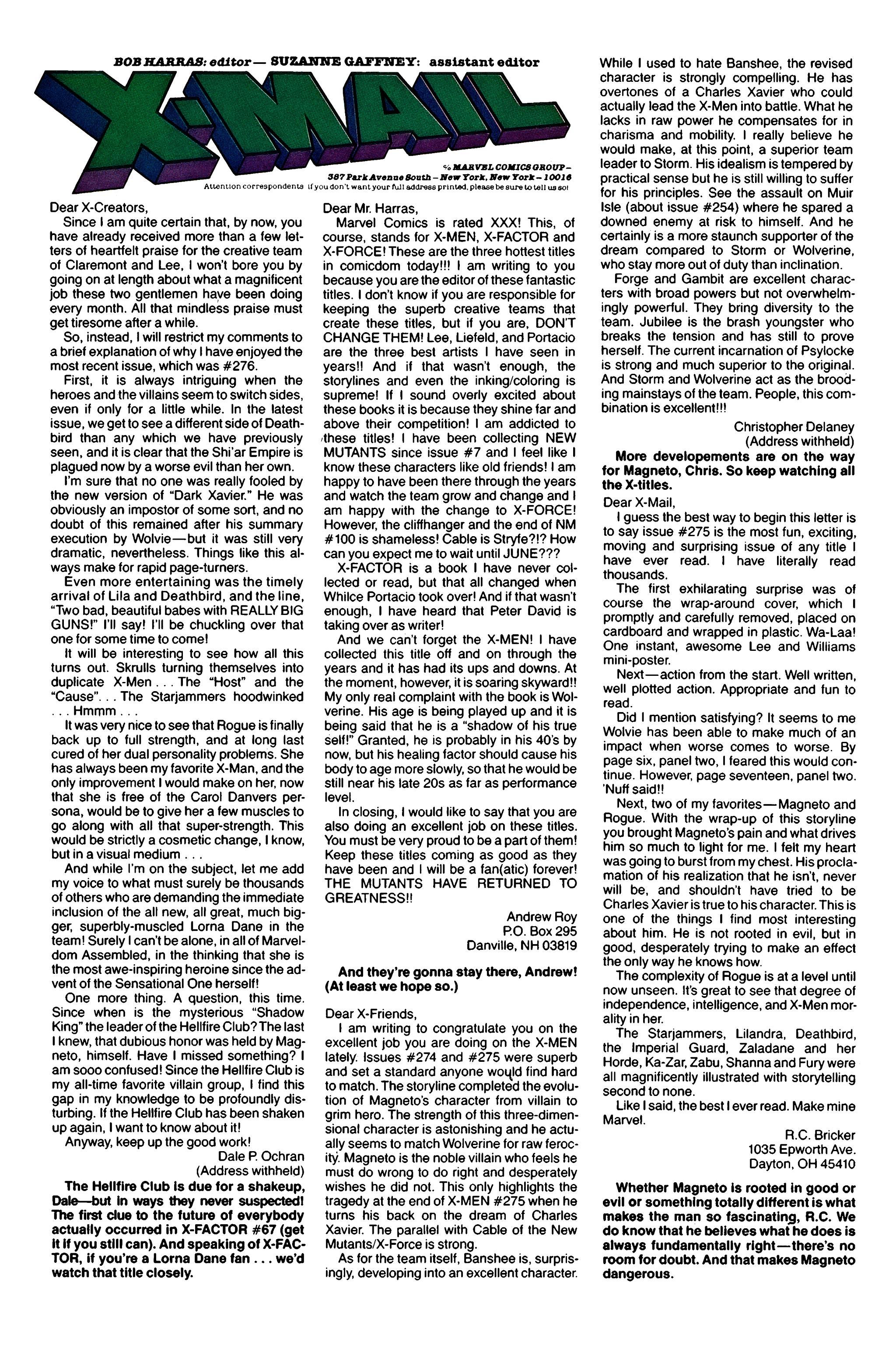 Read online Uncanny X-Men (1963) comic -  Issue #279 - 25