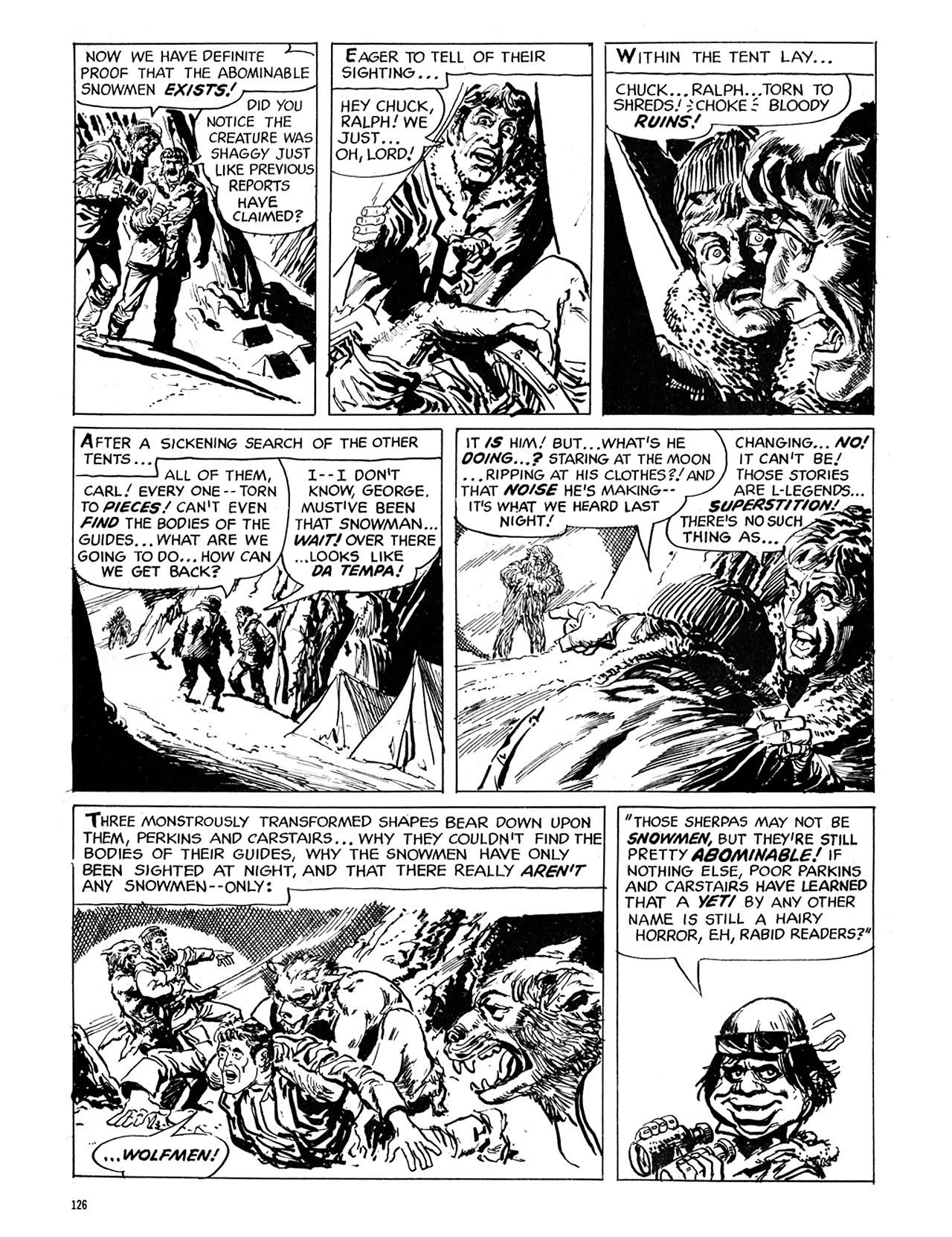 Read online Eerie Archives comic -  Issue # TPB 6 - 126