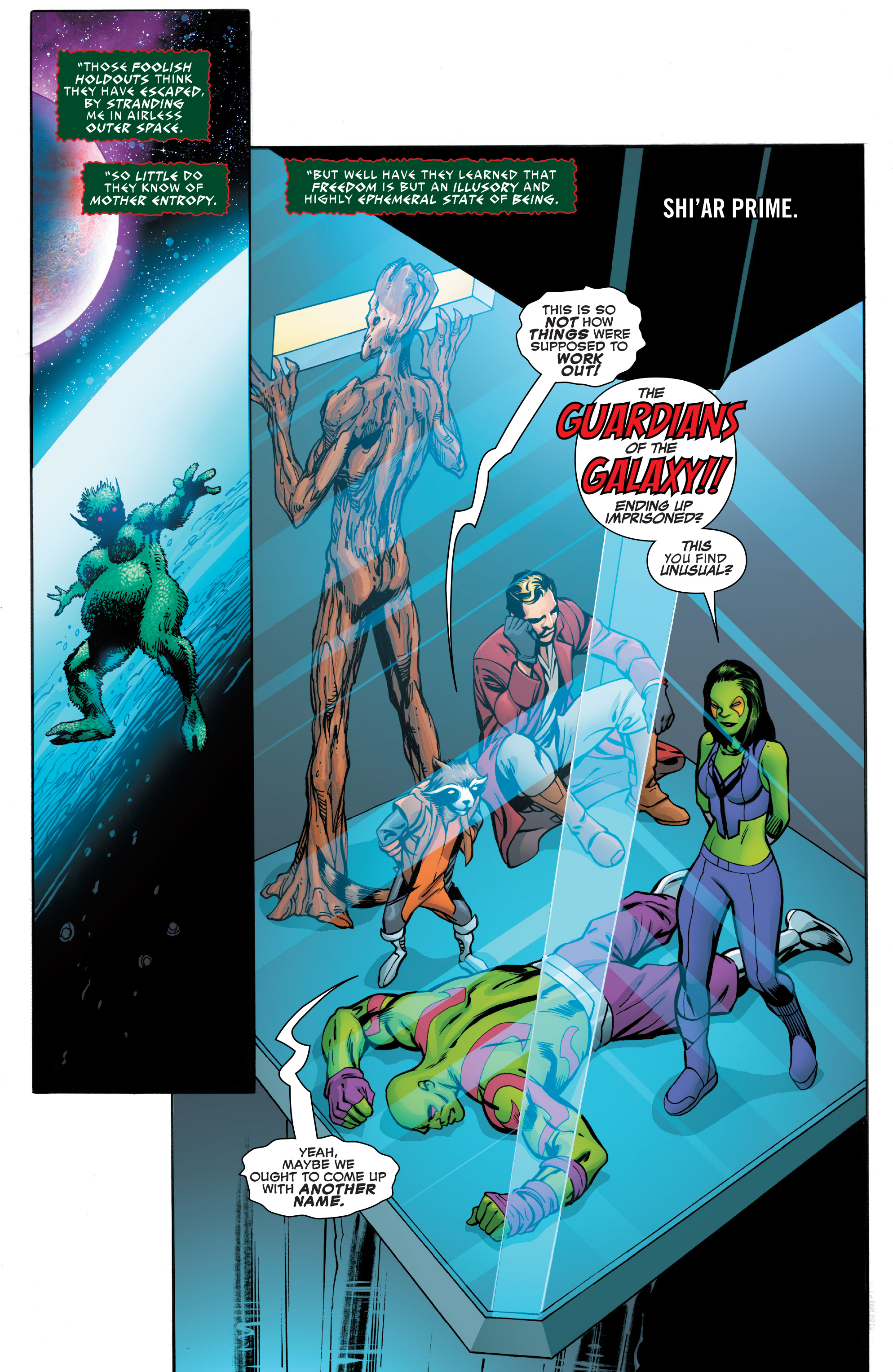 Read online Guardians of the Galaxy: Mother Entropy comic -  Issue #4 - 3