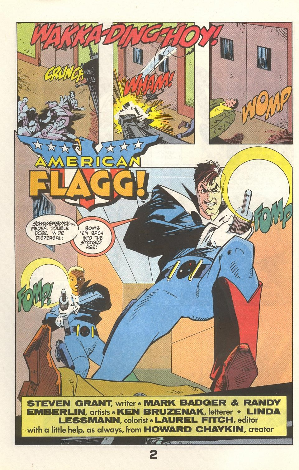 Read online American Flagg! comic -  Issue #33 - 4