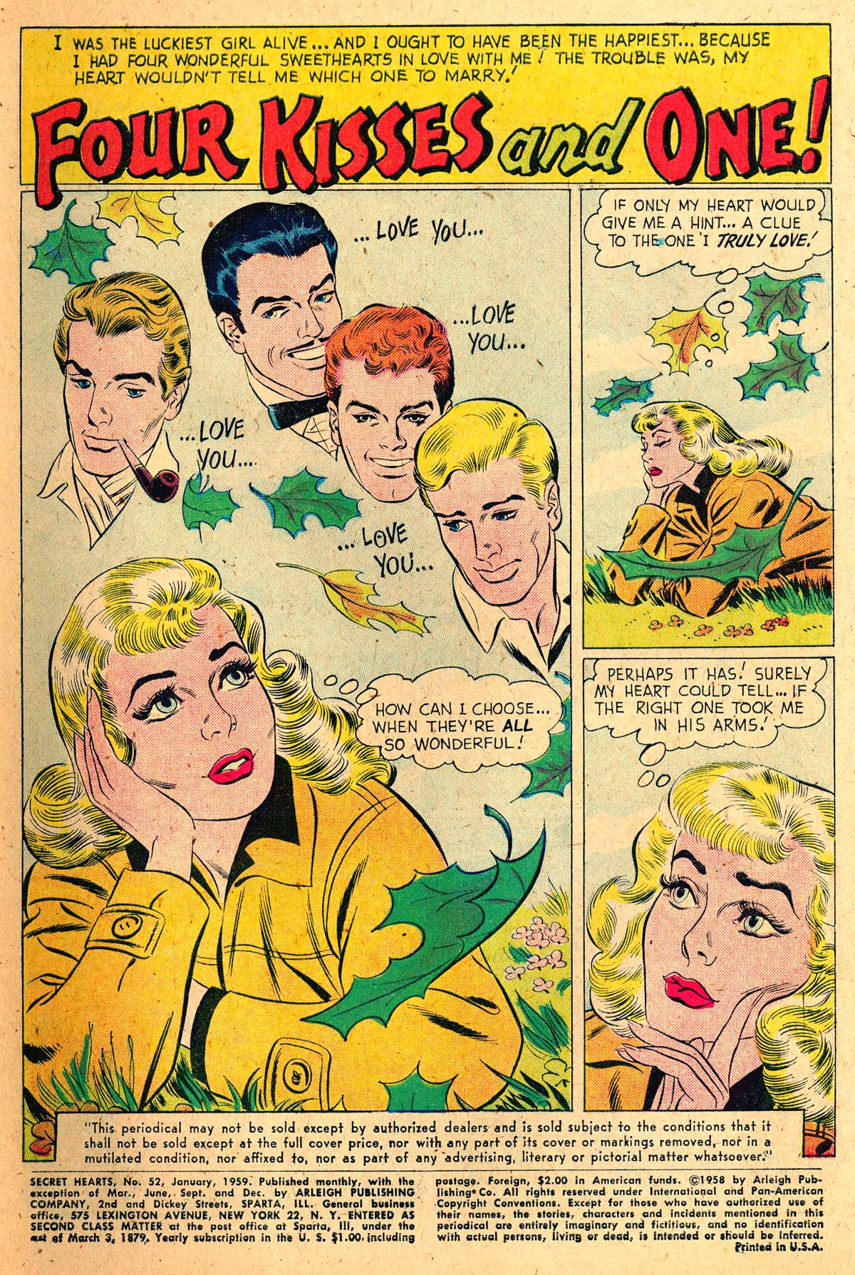 Read online Secret Hearts comic -  Issue #52 - 3
