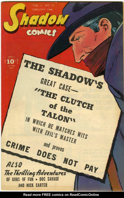 Read online Shadow Comics comic -  Issue #60 - 1