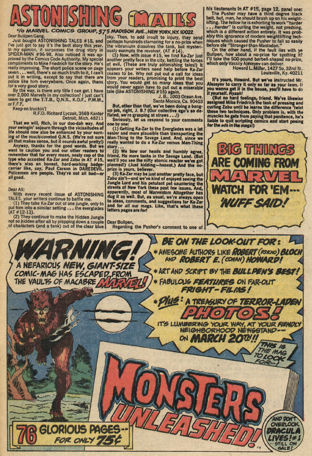 Read online Astonishing Tales (1970) comic -  Issue #18 - 22