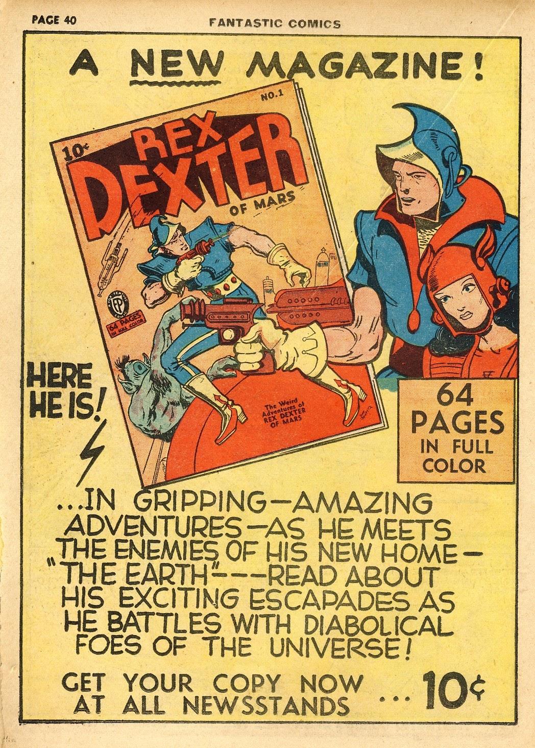 Read online Fantastic Comics comic -  Issue #10 - 41