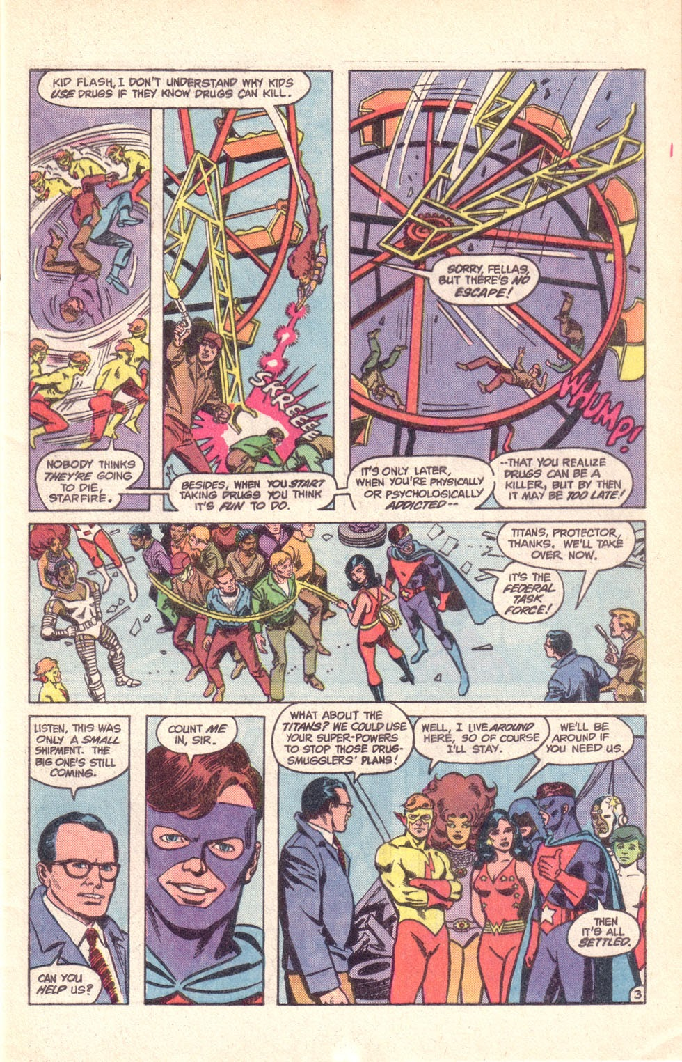 Read online The New Teen Titans (Drug Awareness Specials) comic -  Issue #1 - 5
