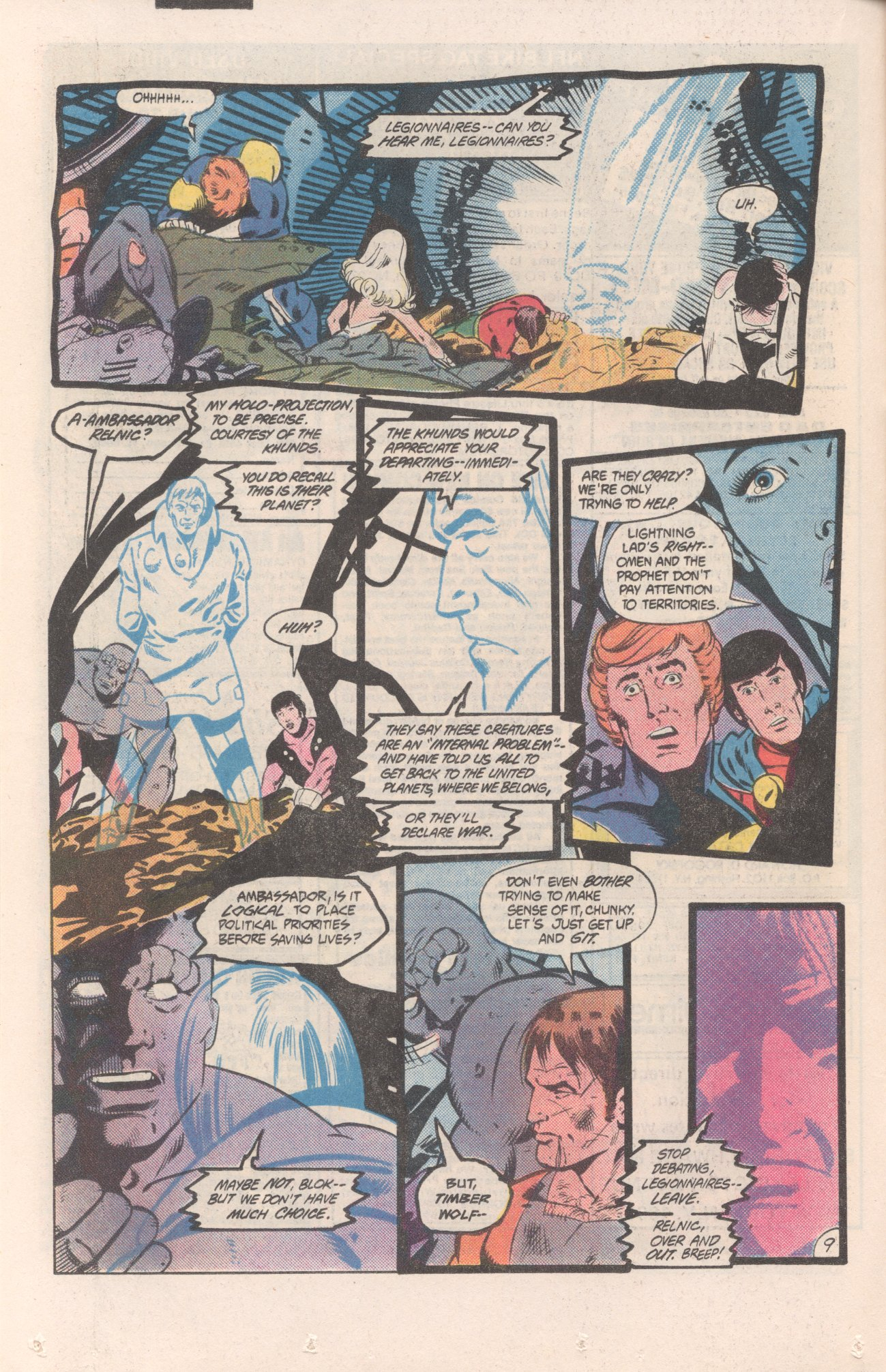 Legion of Super-Heroes (1980) 310 Page 9