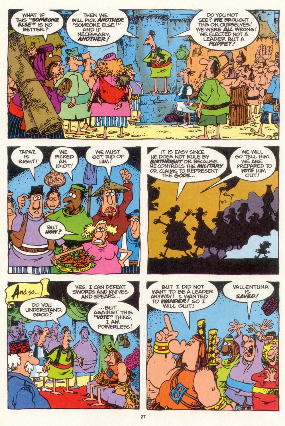 Read online Sergio Aragonés Groo the Wanderer comic -  Issue #109 - 29