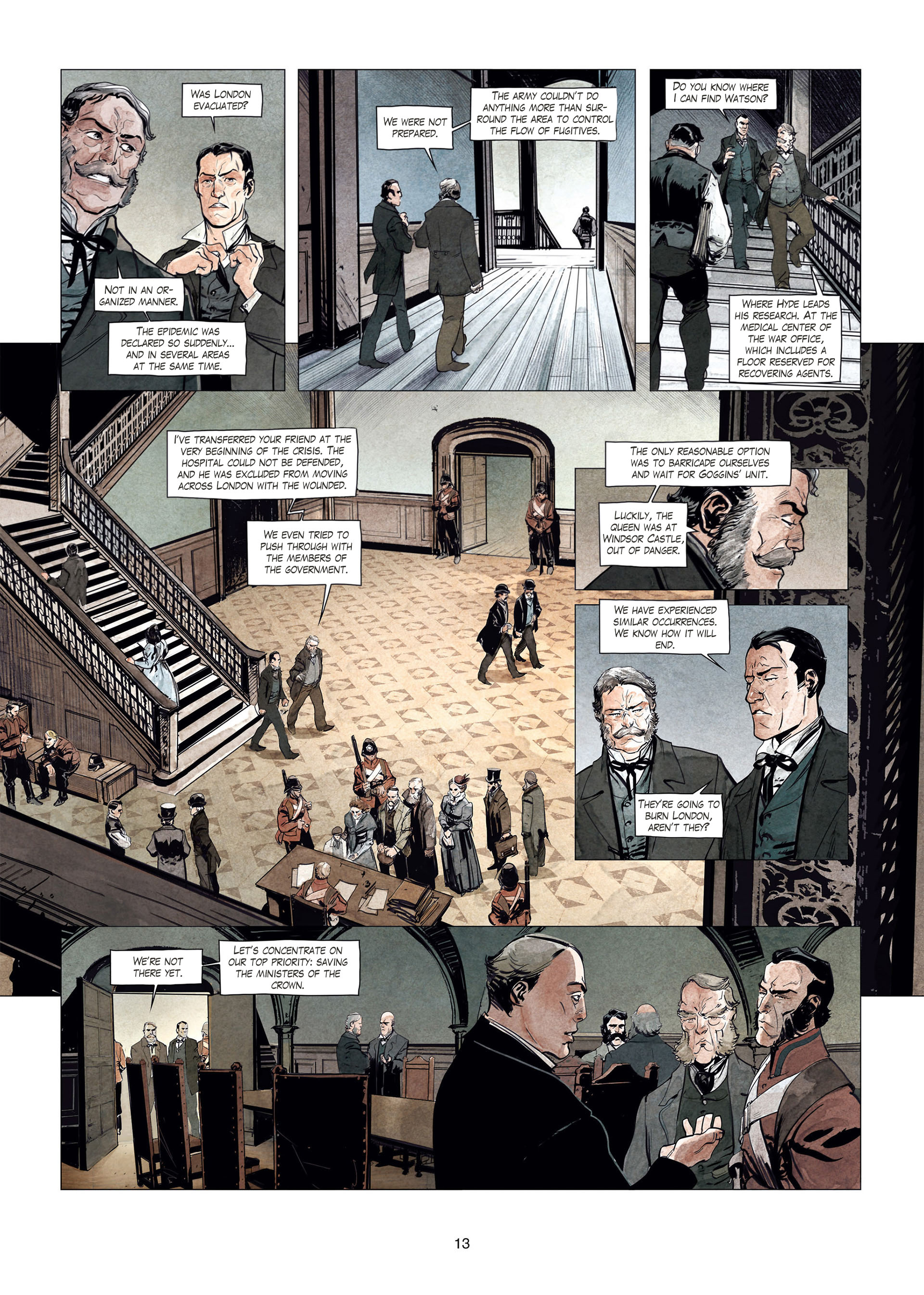 Read online Sherlock Holmes Society Tome 4 : Contamination comic -  Issue # Full - 13