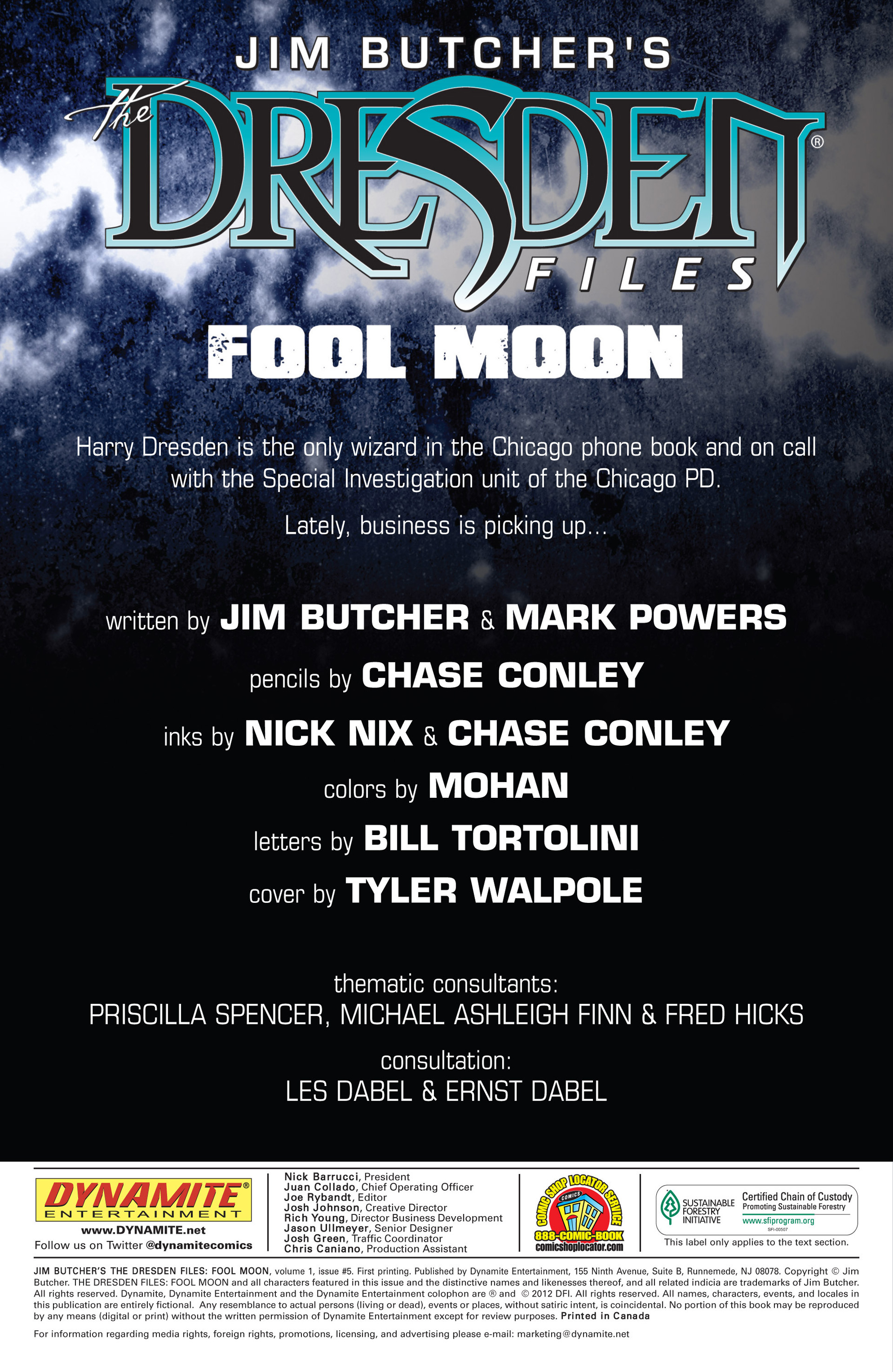 Read online Jim Butcher's The Dresden Files: Fool Moon comic -  Issue #5 - 2