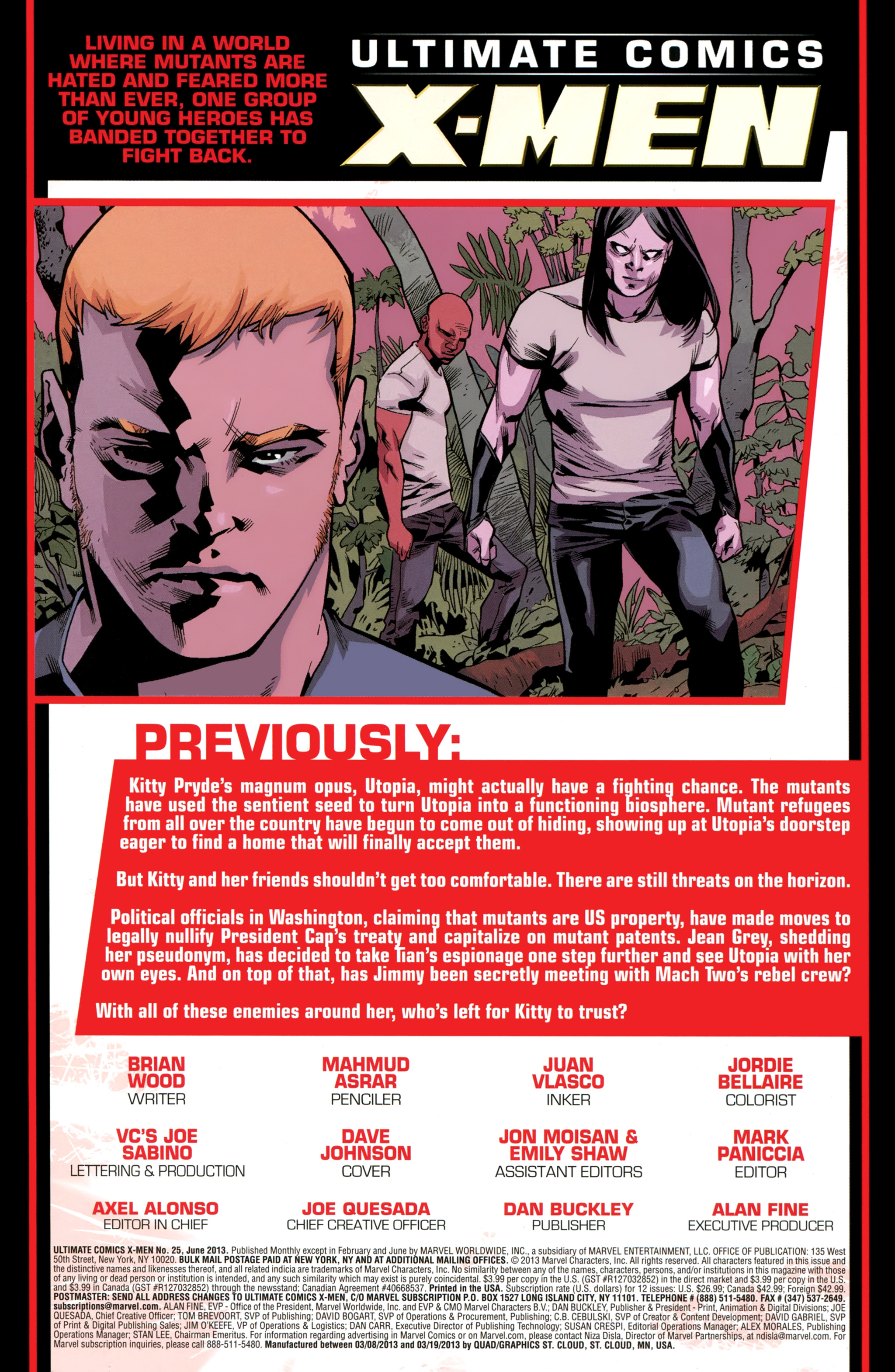 Read online Ultimate Comics X-Men comic -  Issue #25 - 2