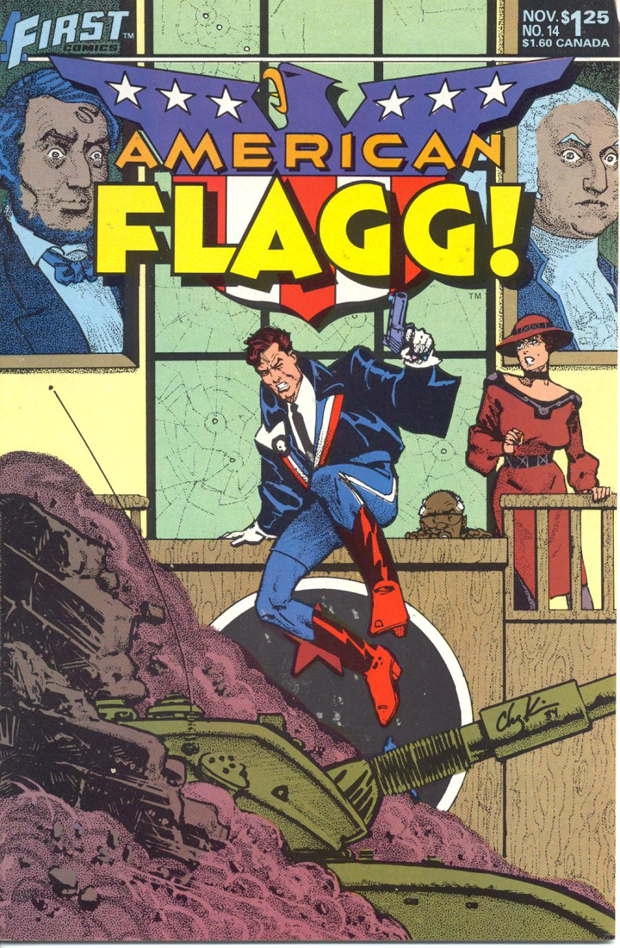 Read online American Flagg! comic -  Issue #14 - 1