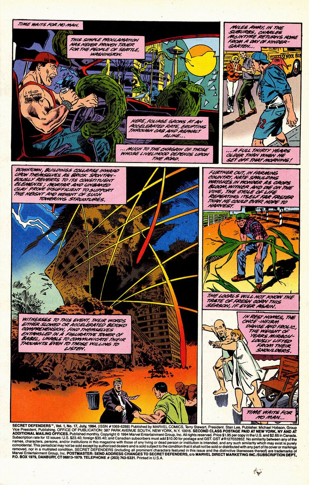 Read online Secret Defenders comic -  Issue #17 - 2