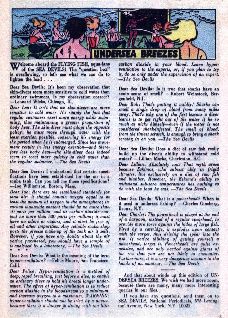 Read online Sea Devils comic -  Issue #31 - 22