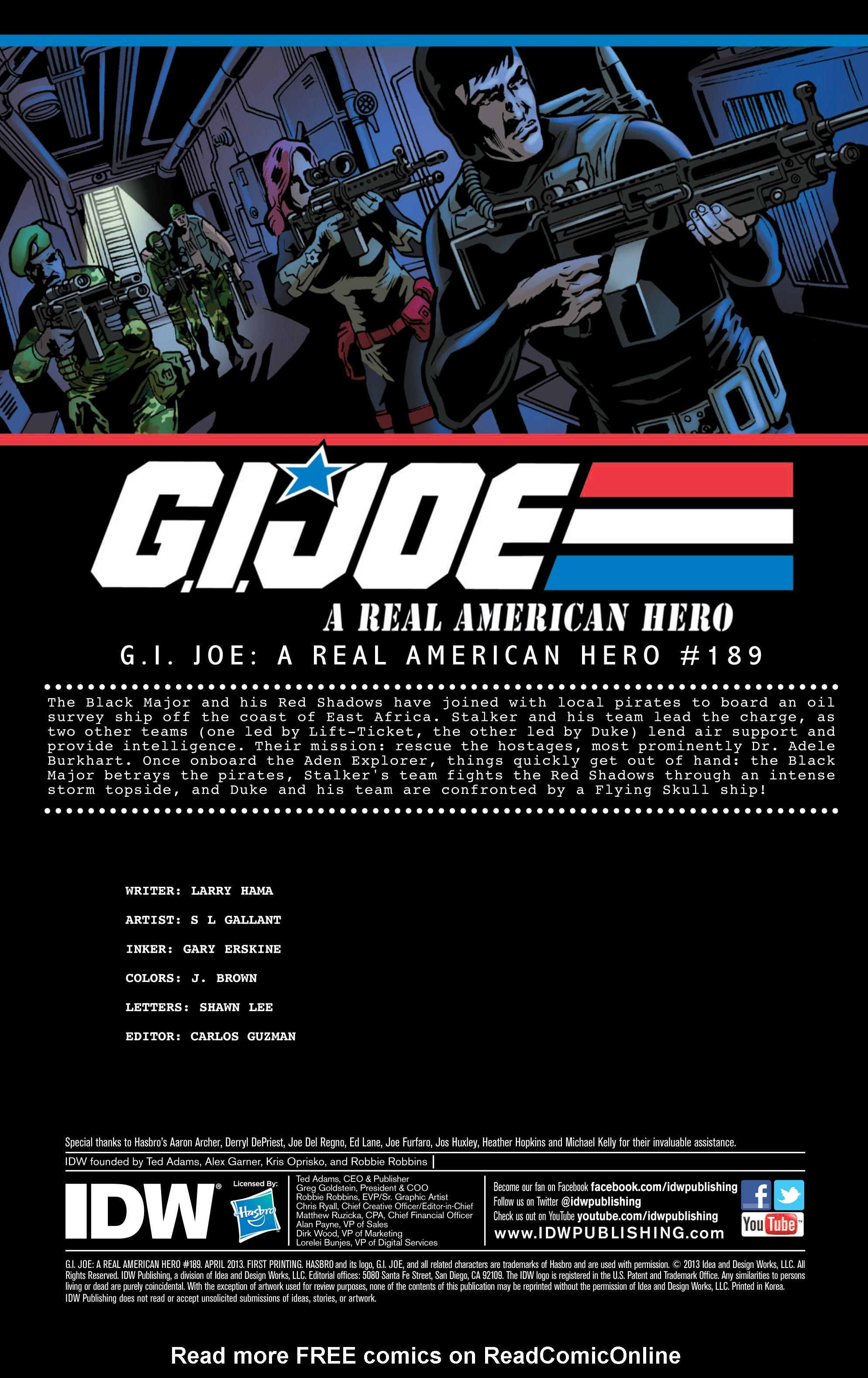 G.I. Joe: A Real American Hero 189 Page 1
