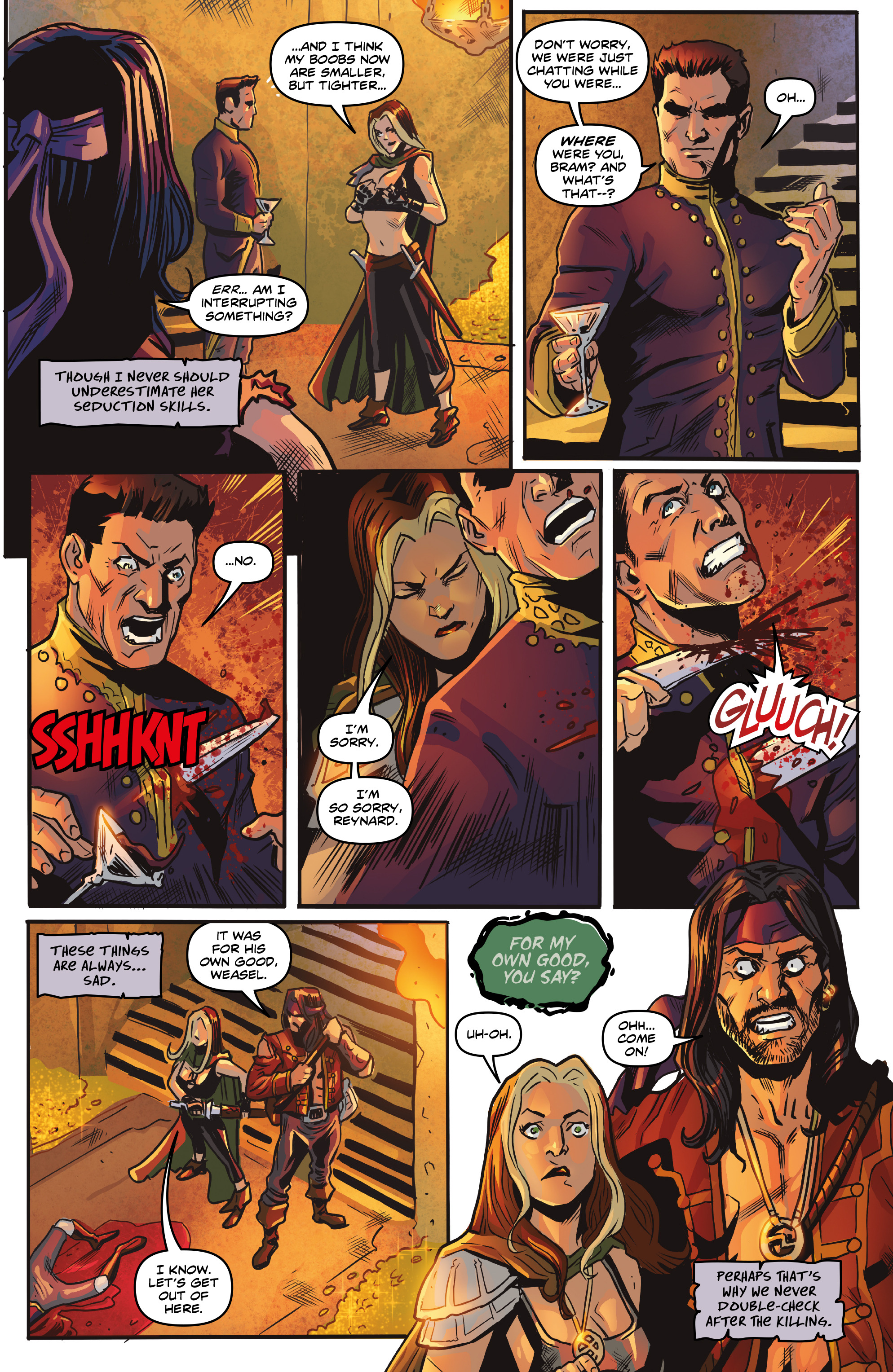 Read online Rogues!: The Burning Heart comic -  Issue #5 - 17