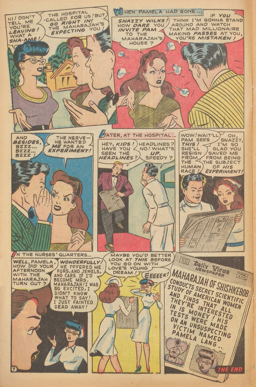 Read online Nellie The Nurse (1945) comic -  Issue #15 - 18