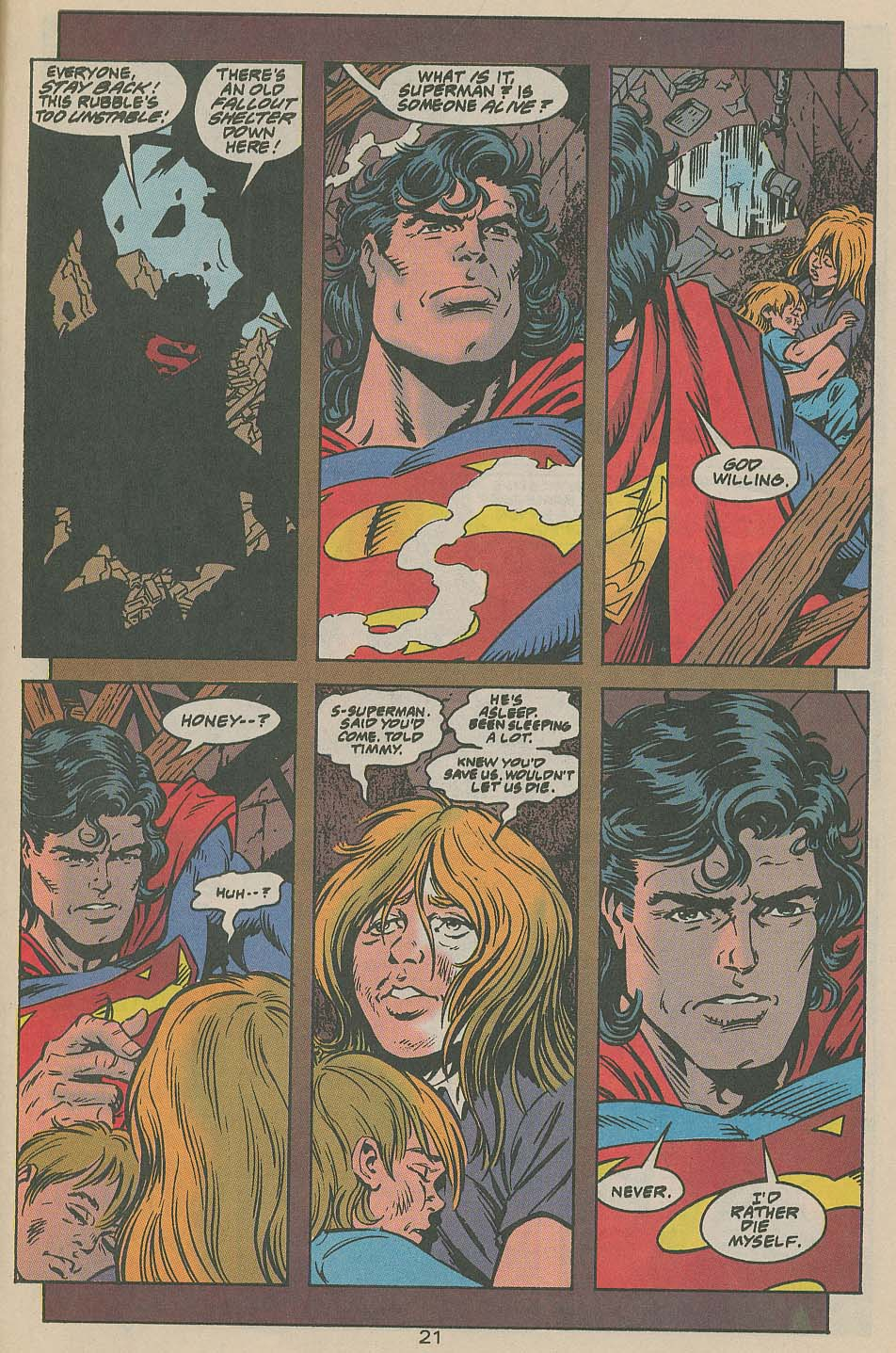 Read online Adventures of Superman (1987) comic -  Issue #505 - 22