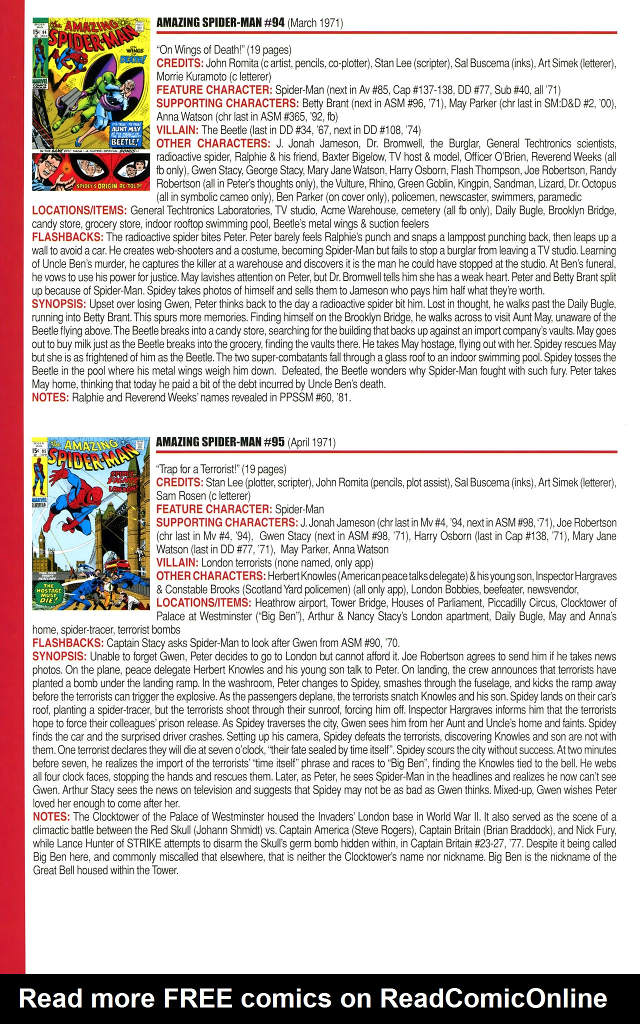 Read online Official Index to the Marvel Universe comic -  Issue #2 - 20