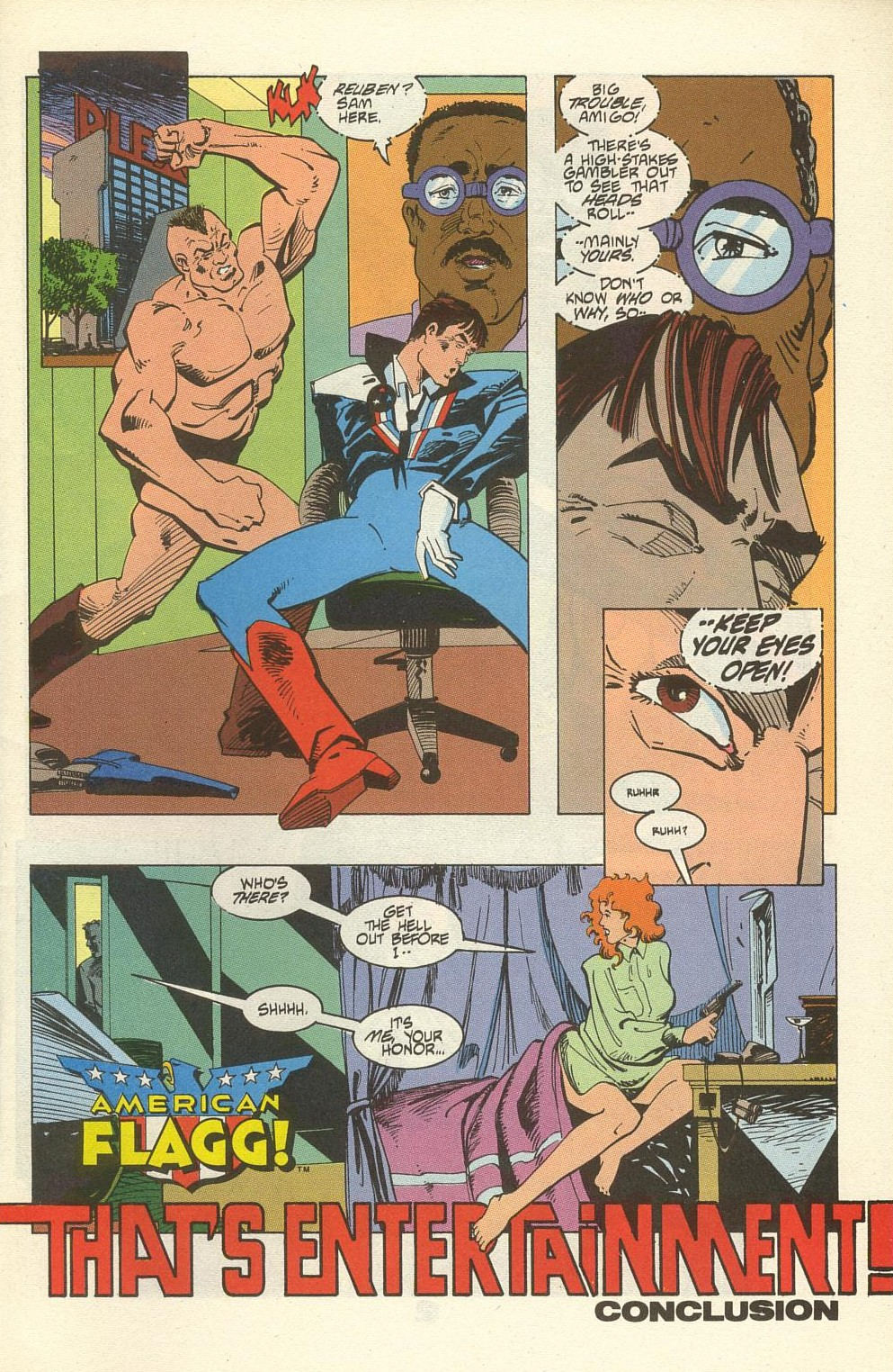 Read online American Flagg! comic -  Issue #34 - 3