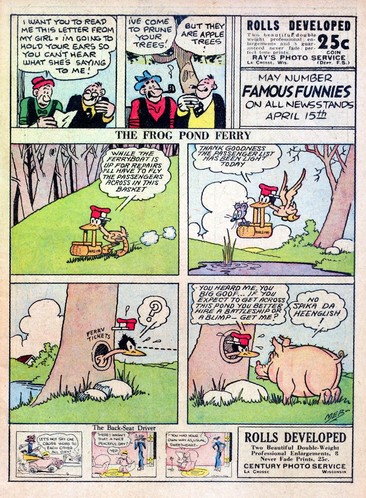 Read online Famous Funnies comic -  Issue #45 - 3