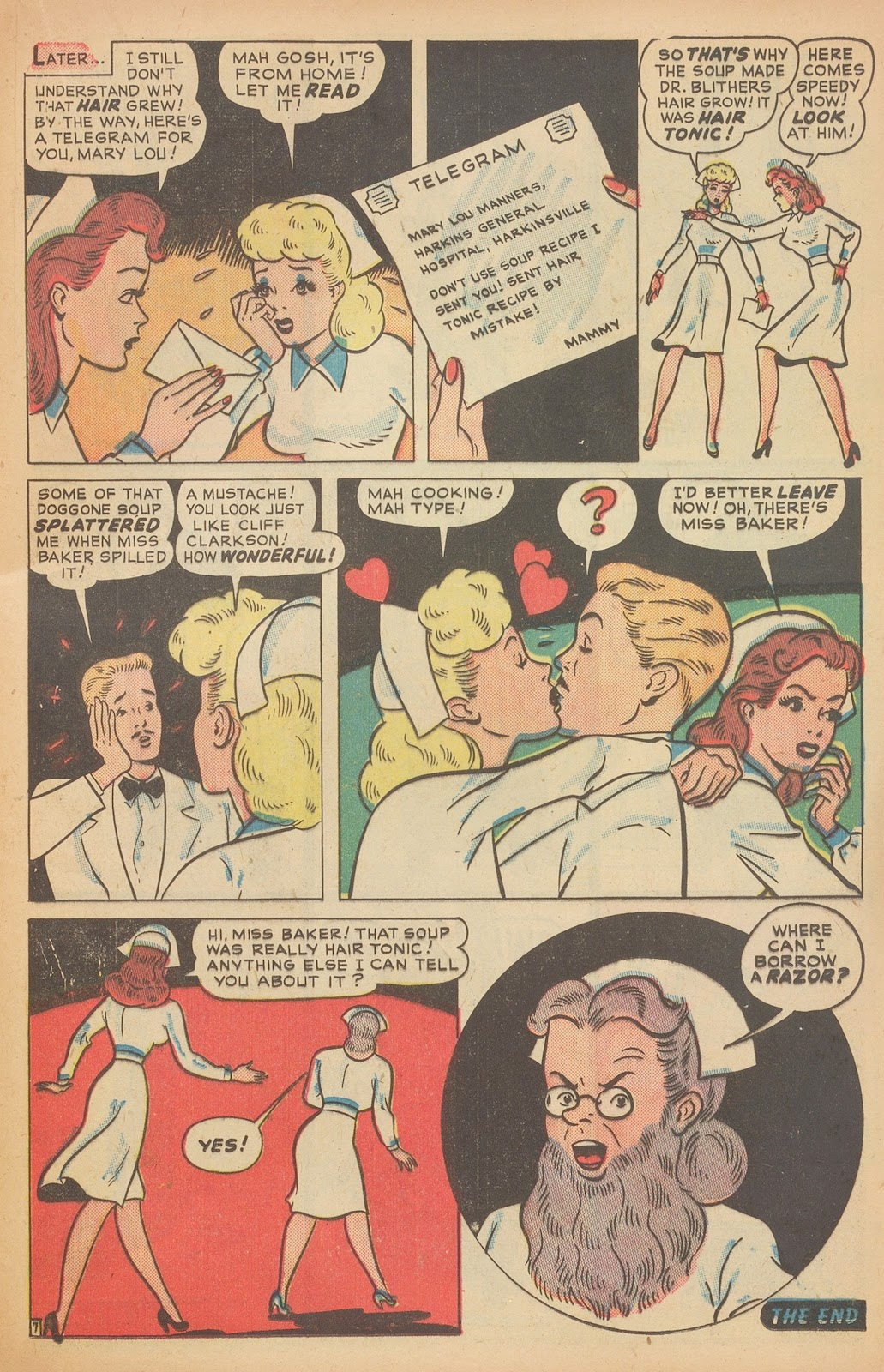 Read online Nellie The Nurse (1945) comic -  Issue #15 - 33