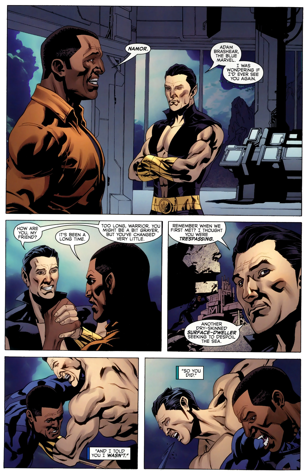 Read online Adam: Legend of the Blue Marvel comic -  Issue #4 - 13