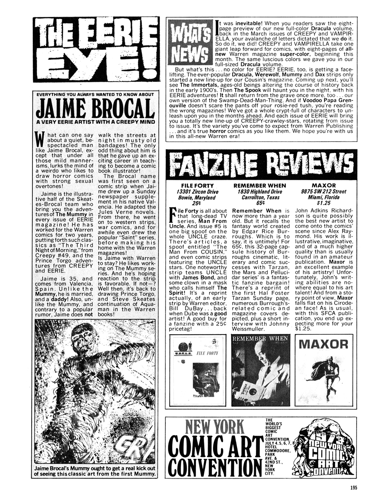 Read online Eerie Archives comic -  Issue # TPB 10 - 196