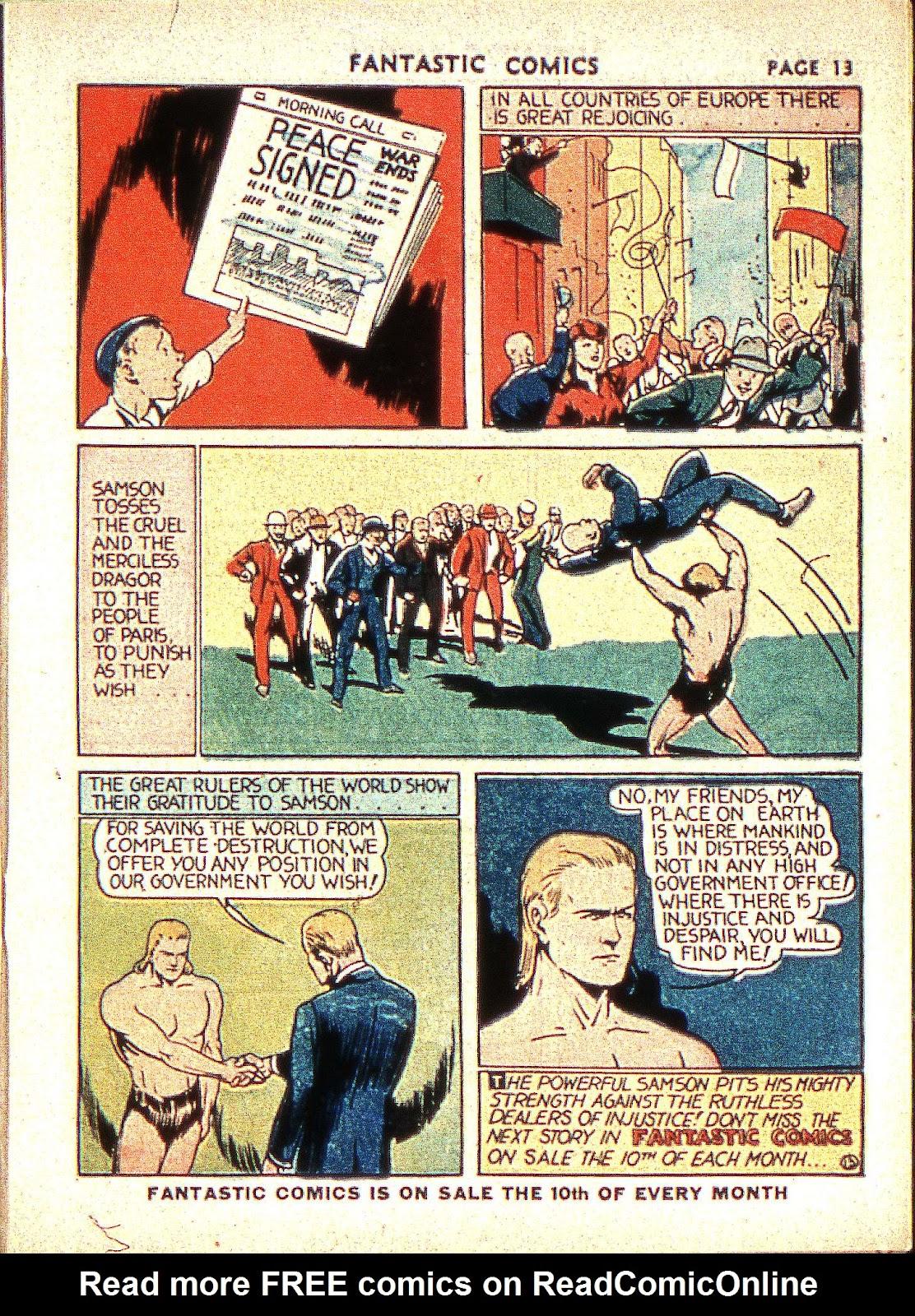 Read online Fantastic Comics comic -  Issue #2 - 15